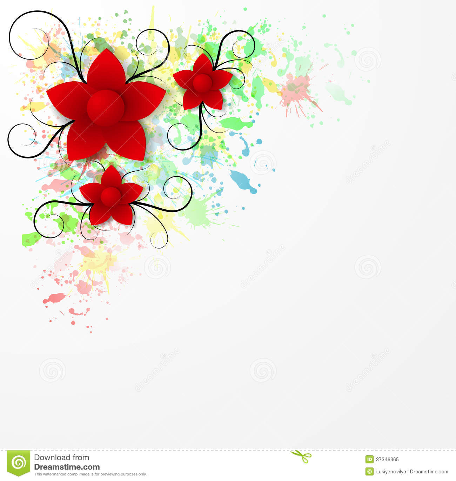 Bakgrund för pappers- blomma