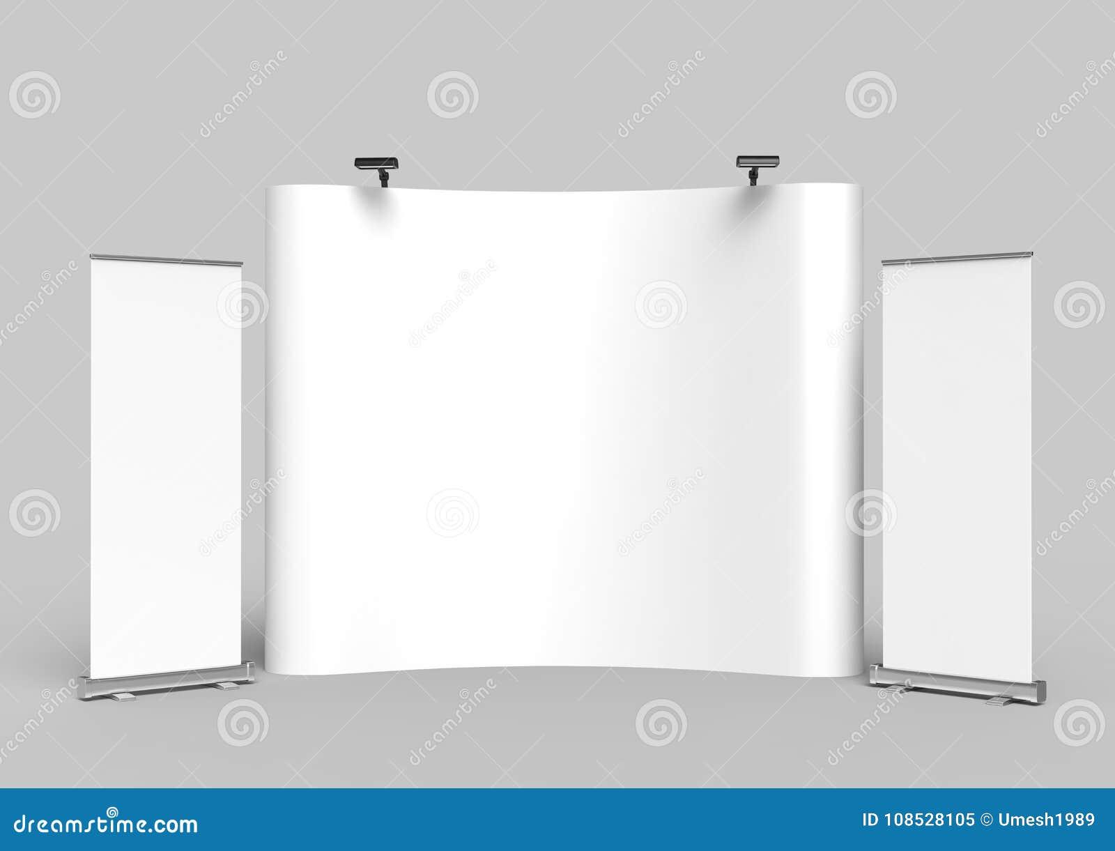 Bakgrund för ställning för baner för skärm för utställningspänningstyg för ställning för advertizing för handelshow med LEDD ELLE