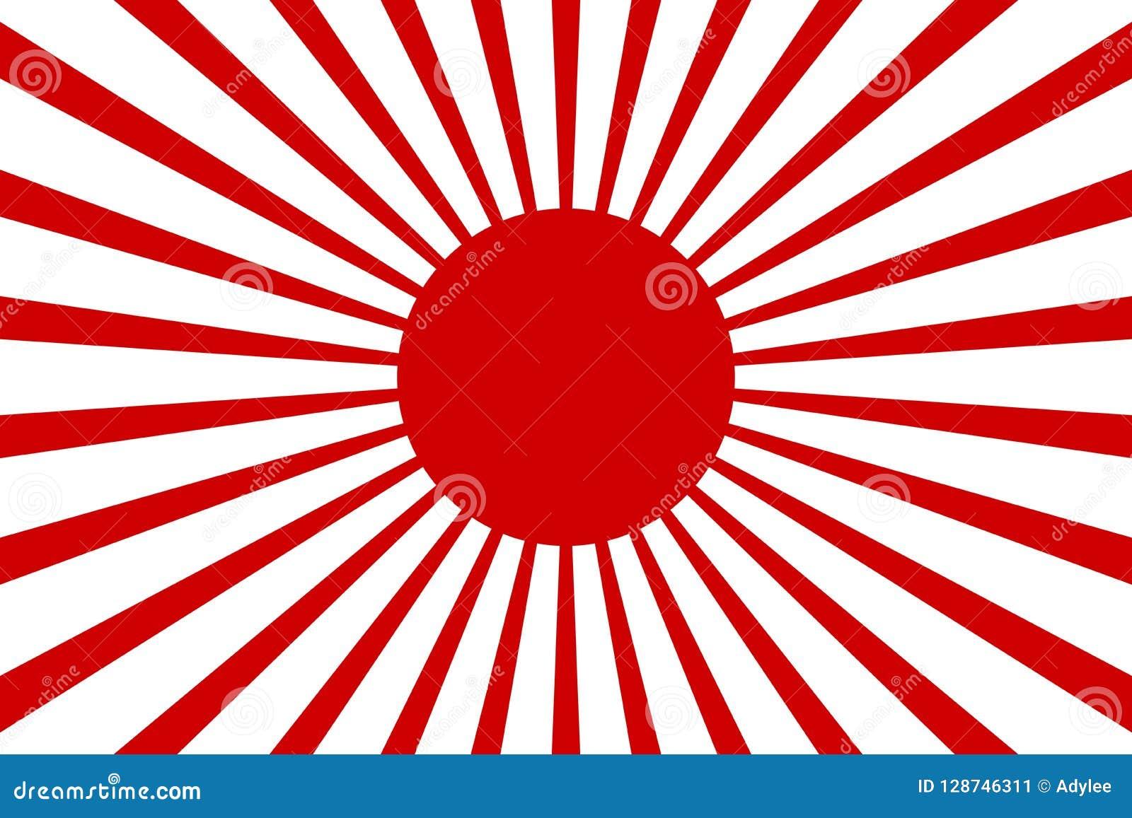 Bakgrund 2 för stråle för röd sol för tapet för materielvektorJapan för bakgrund illustration för vektor retro