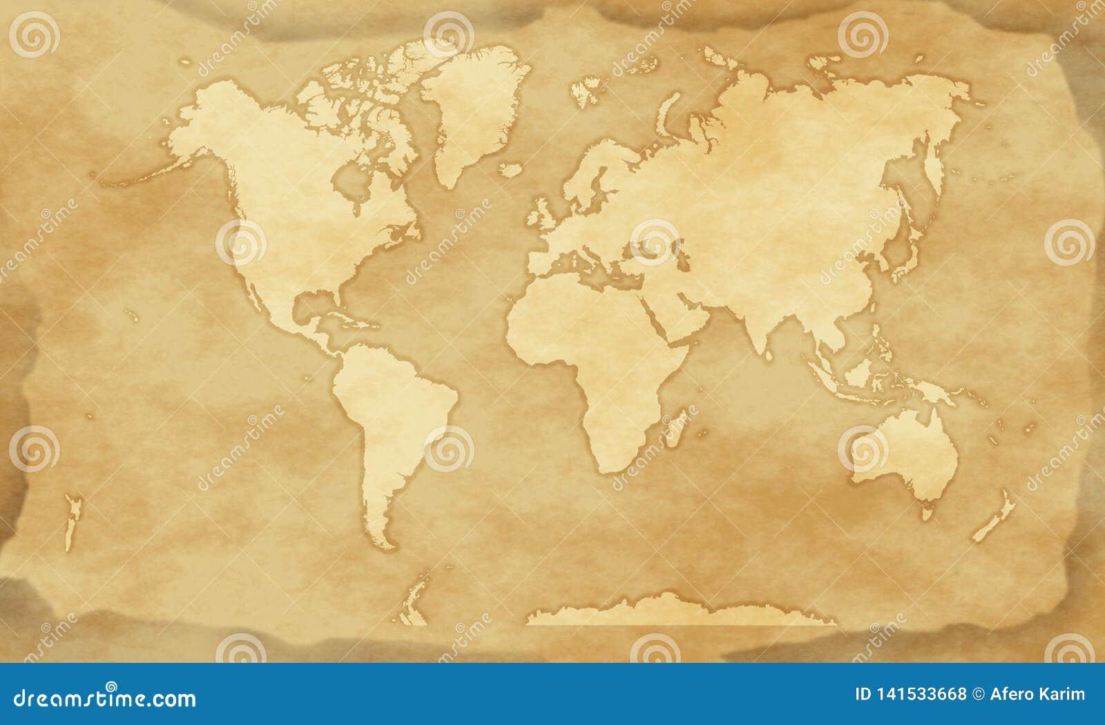 Bakgrund för tappningstilvärldskarta