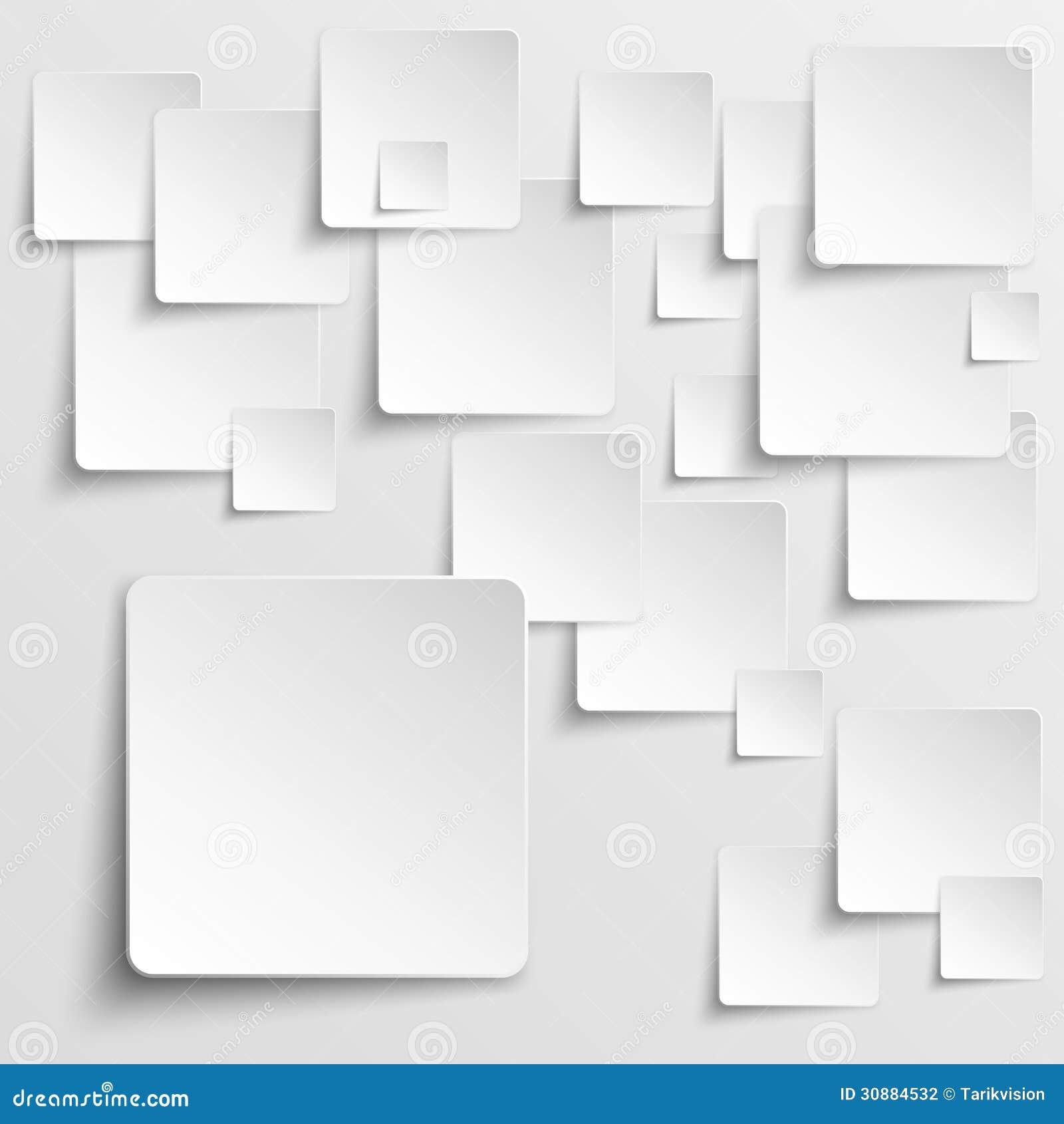 Bakgrund för vektor för pappersfyrkanter abstrakt
