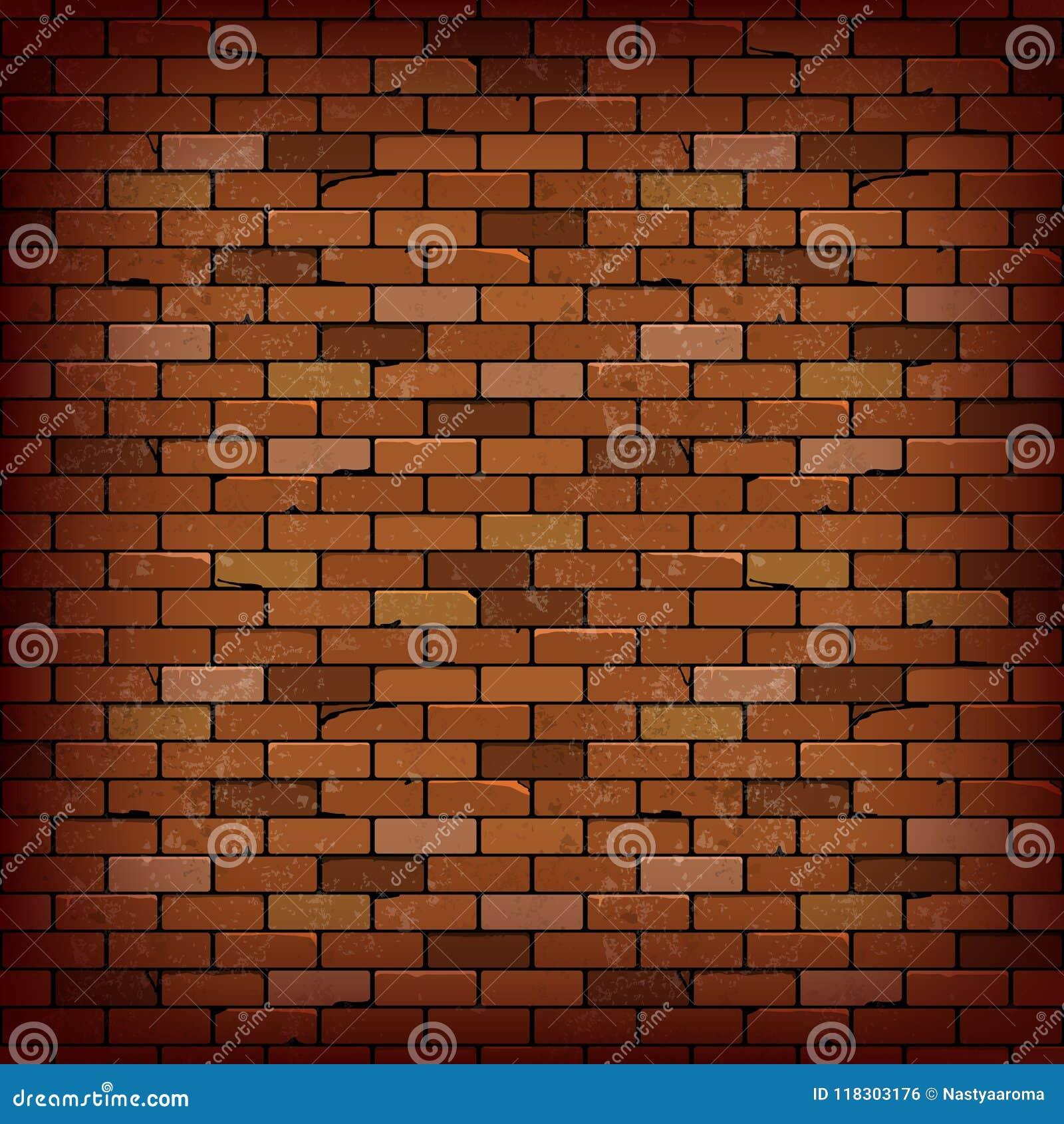 Bakgrund för vektor för vägg för röd tegelsten
