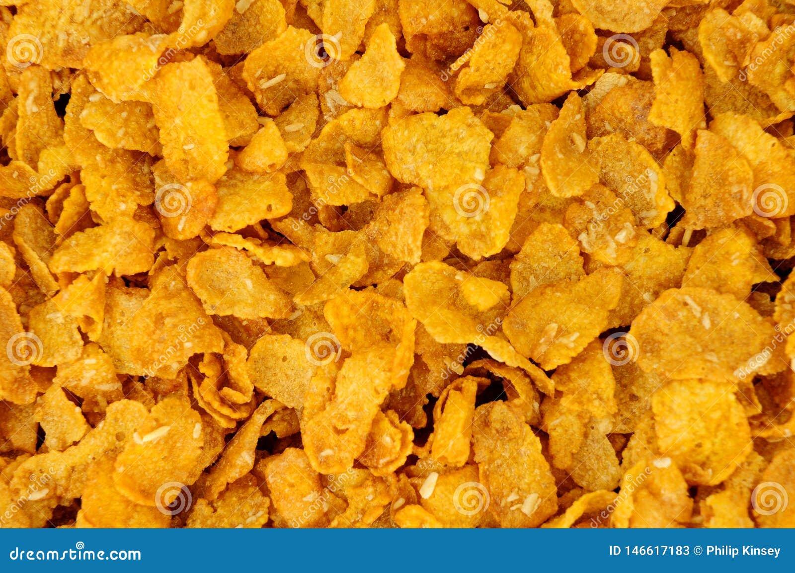 Bakgrund f?r Honey And Nut Corn Flakes frukosts?desslag