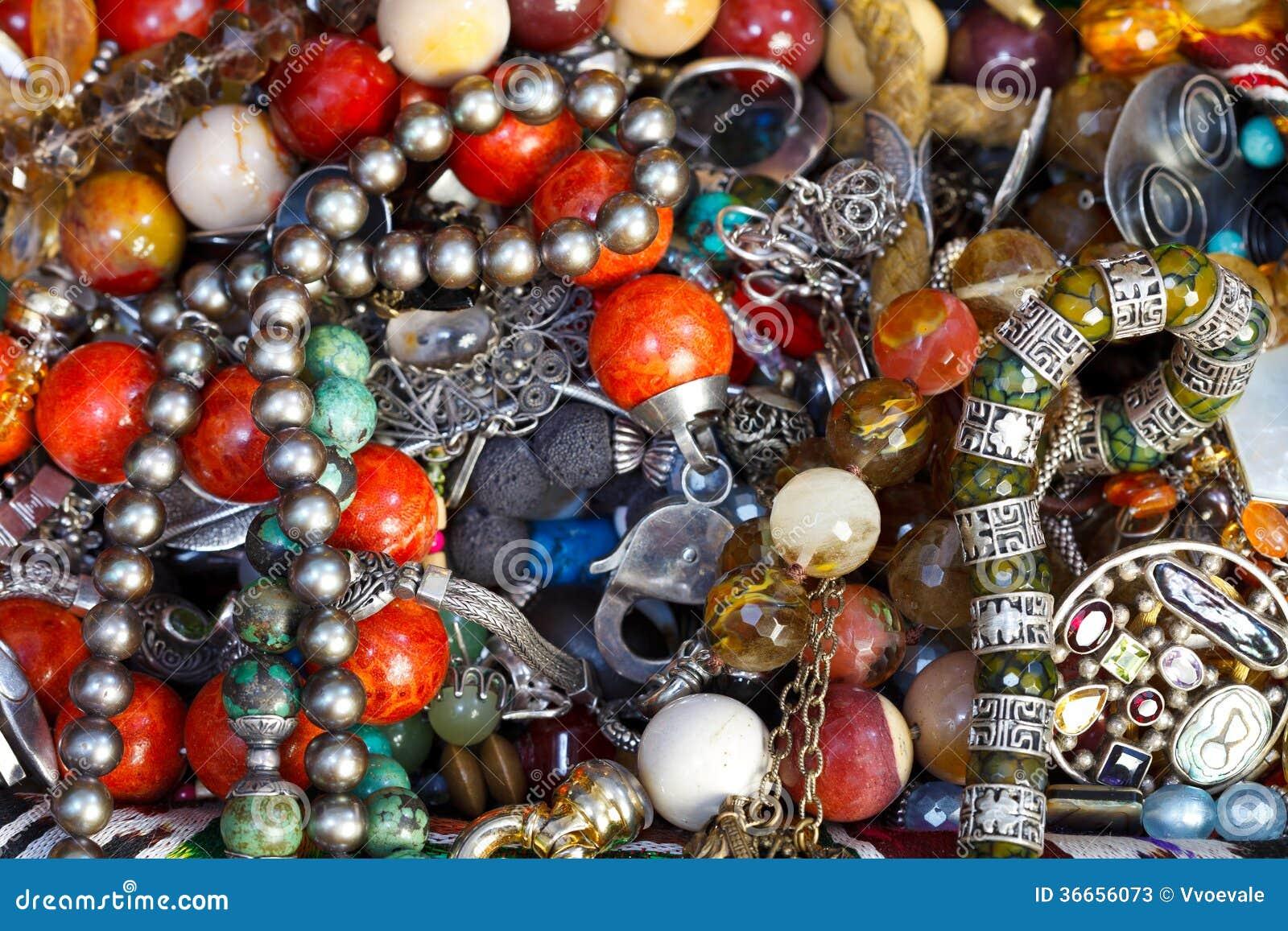 Bakgrund från antika smycken