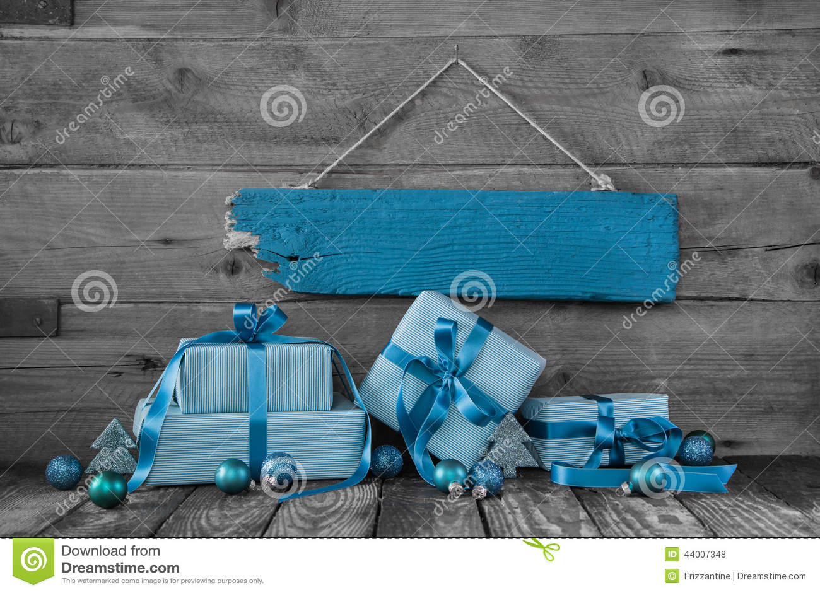 Bakgrund: Julkupong eller kupong med gåvor i turquoi