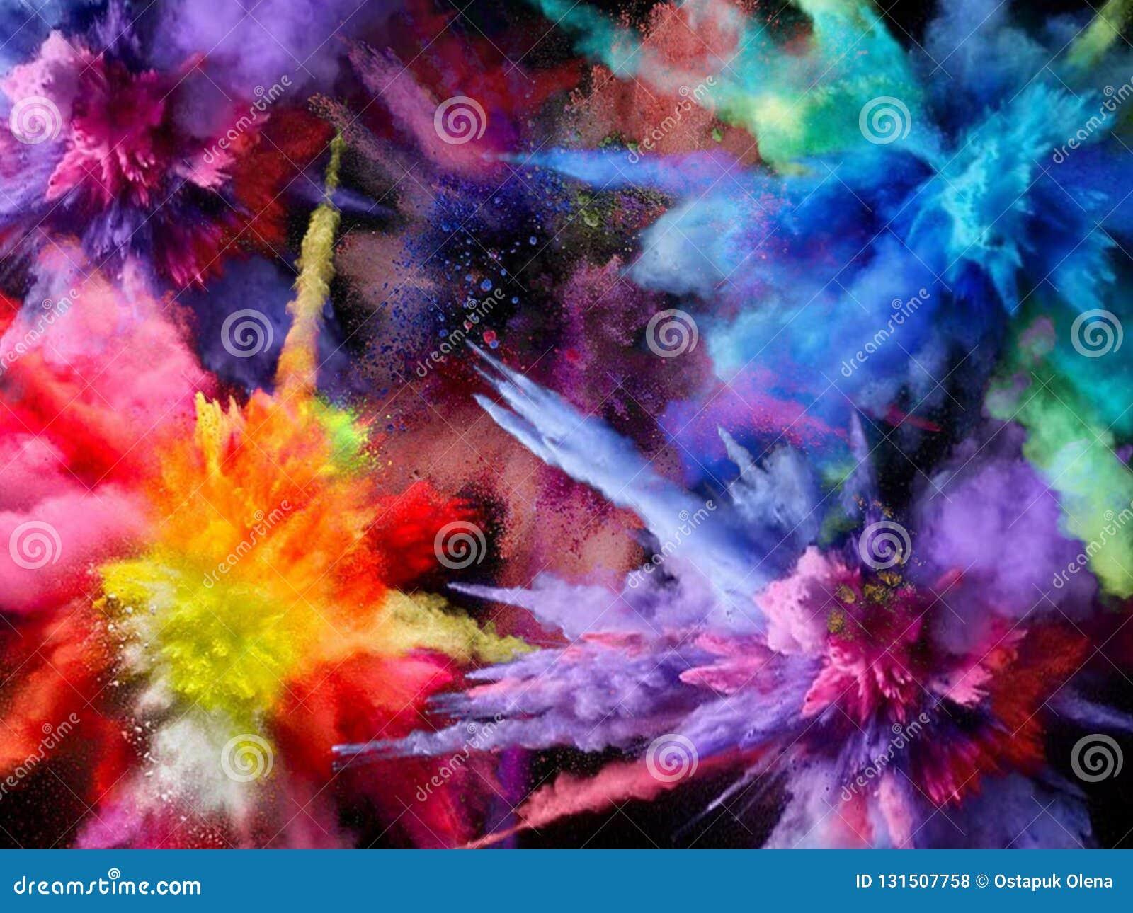 Bakgrund målarfärg brigham Explosion med målarfärg