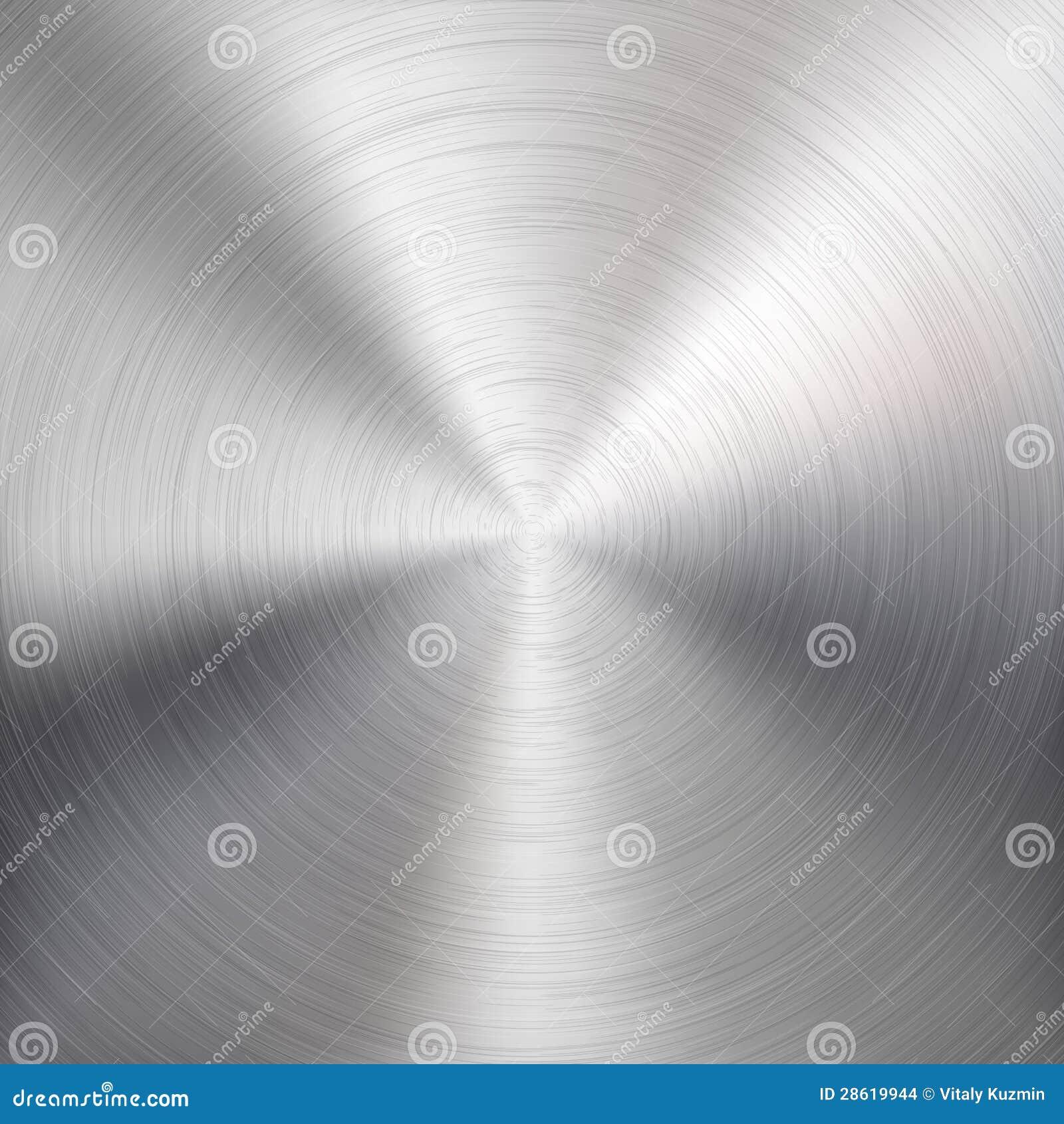Bakgrund med cirkuläret belägger med metall borstat texturerar