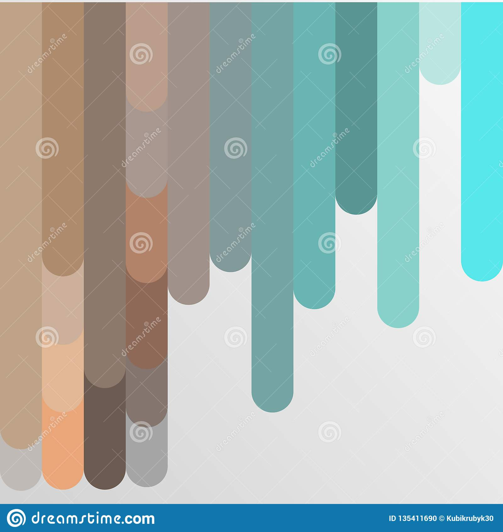 Bakgrund med den mångfärgade pastellfärgade bandvektorillustrationen