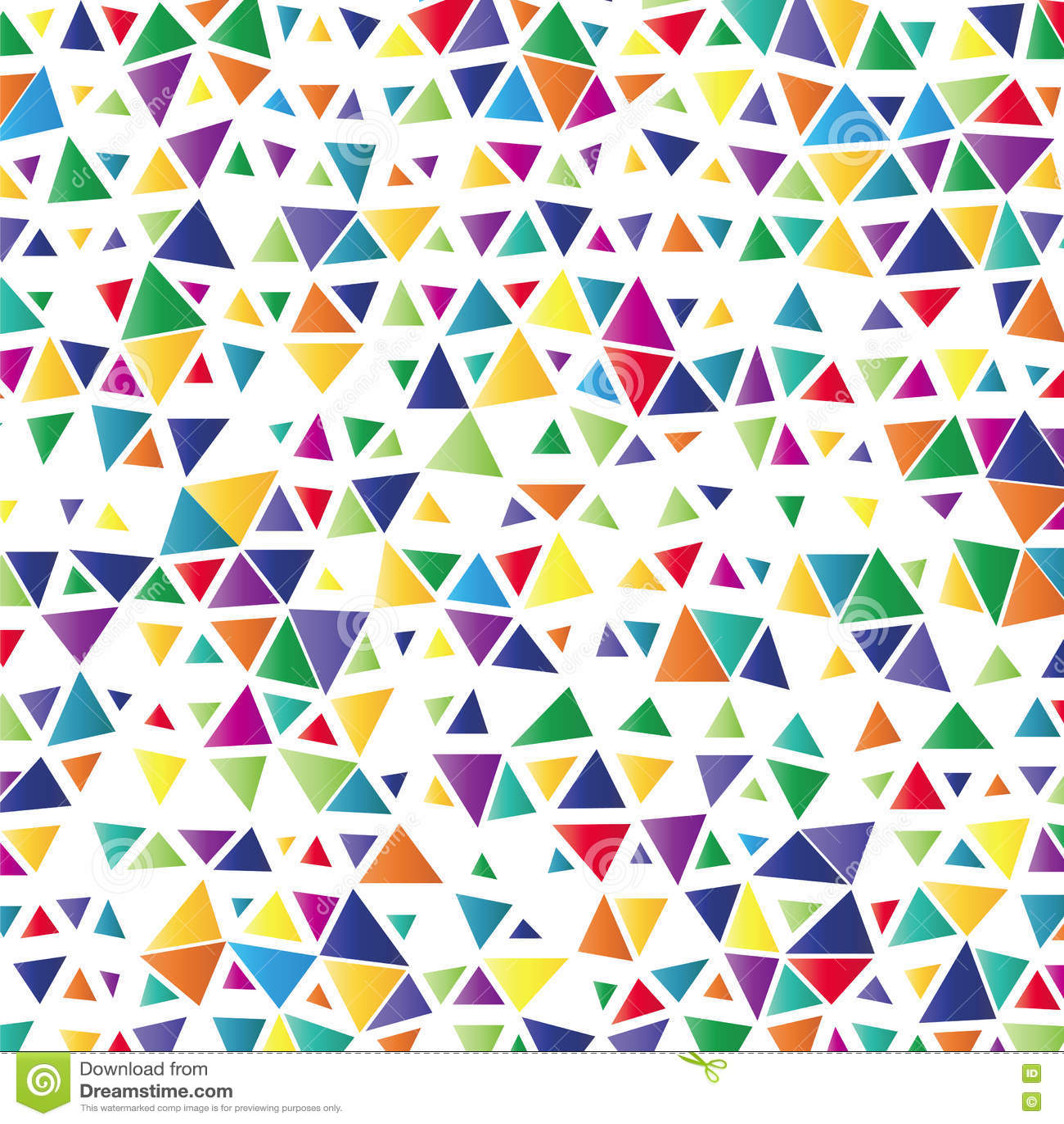 Bakgrund med kulöra trianglar