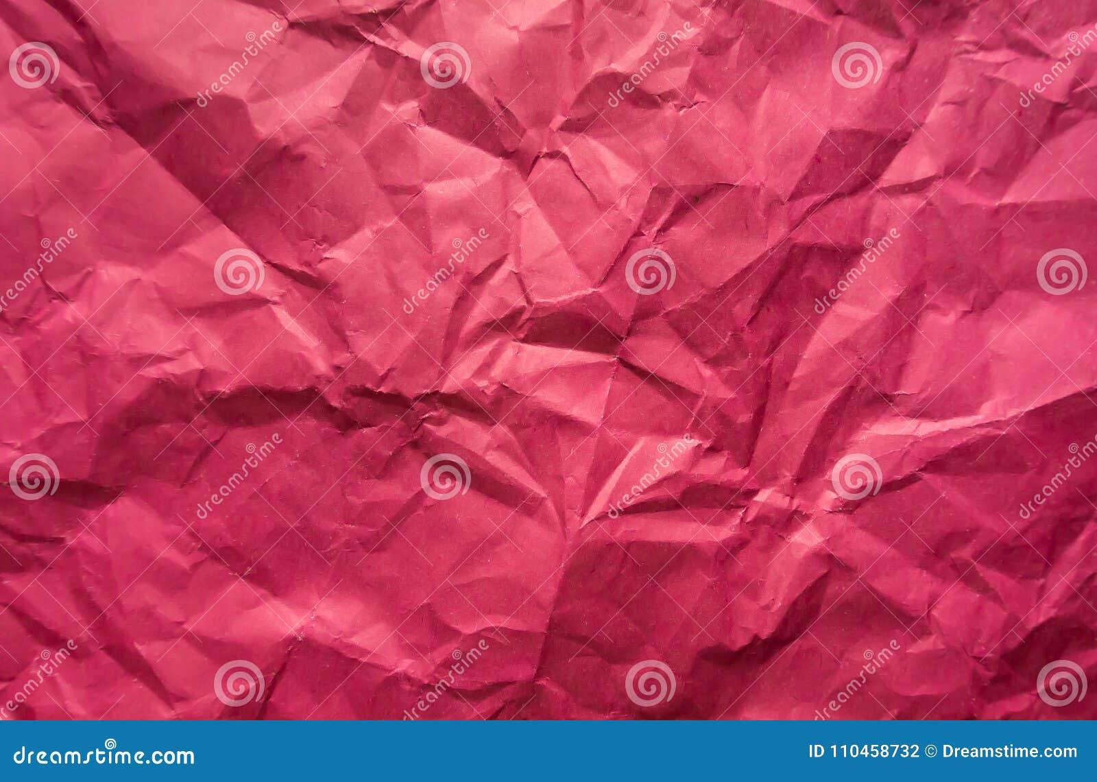 Bakgrund Skrynkligt rosa ark av papper