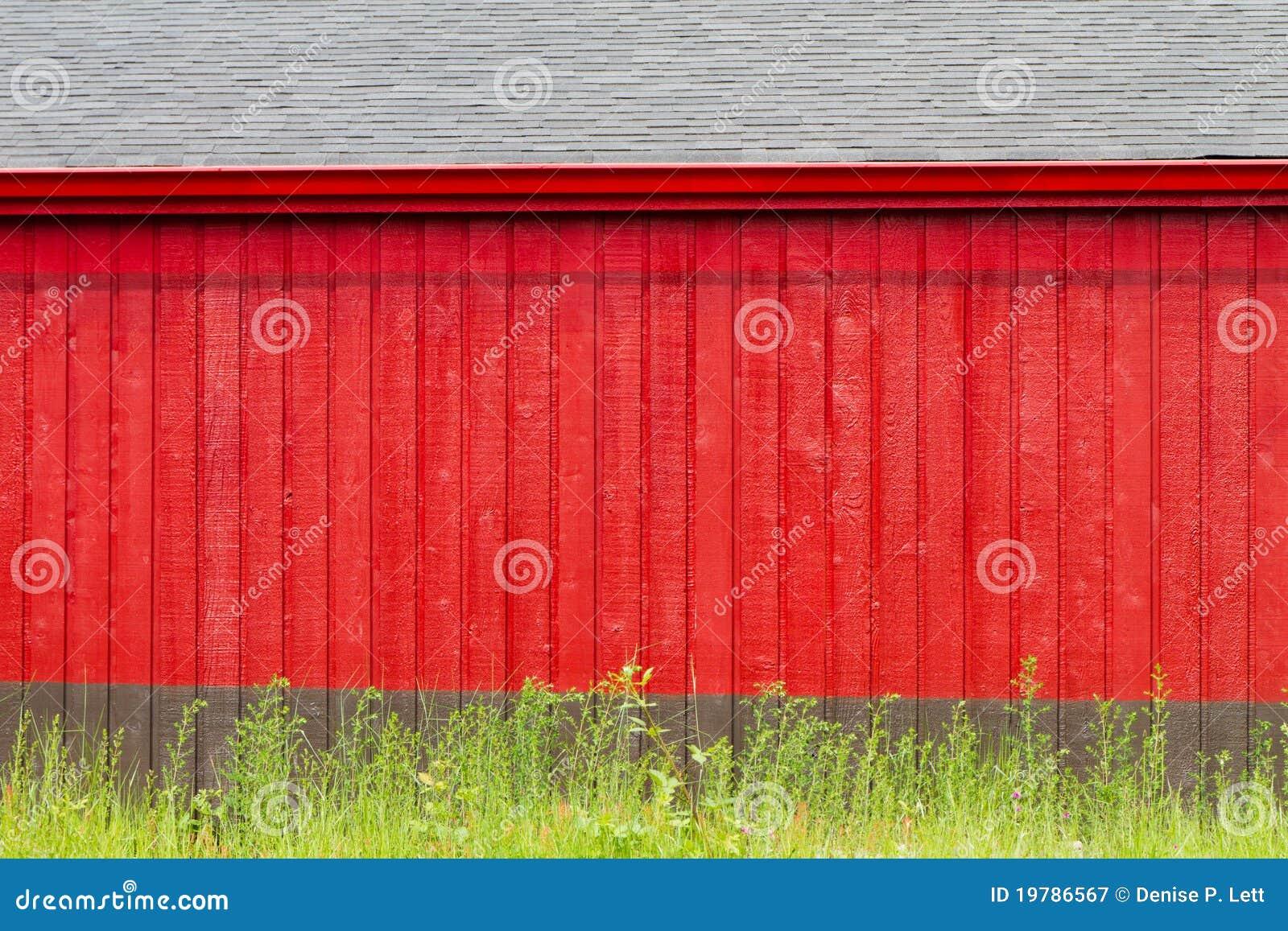Bakgrund som bygger grått rött lantligt