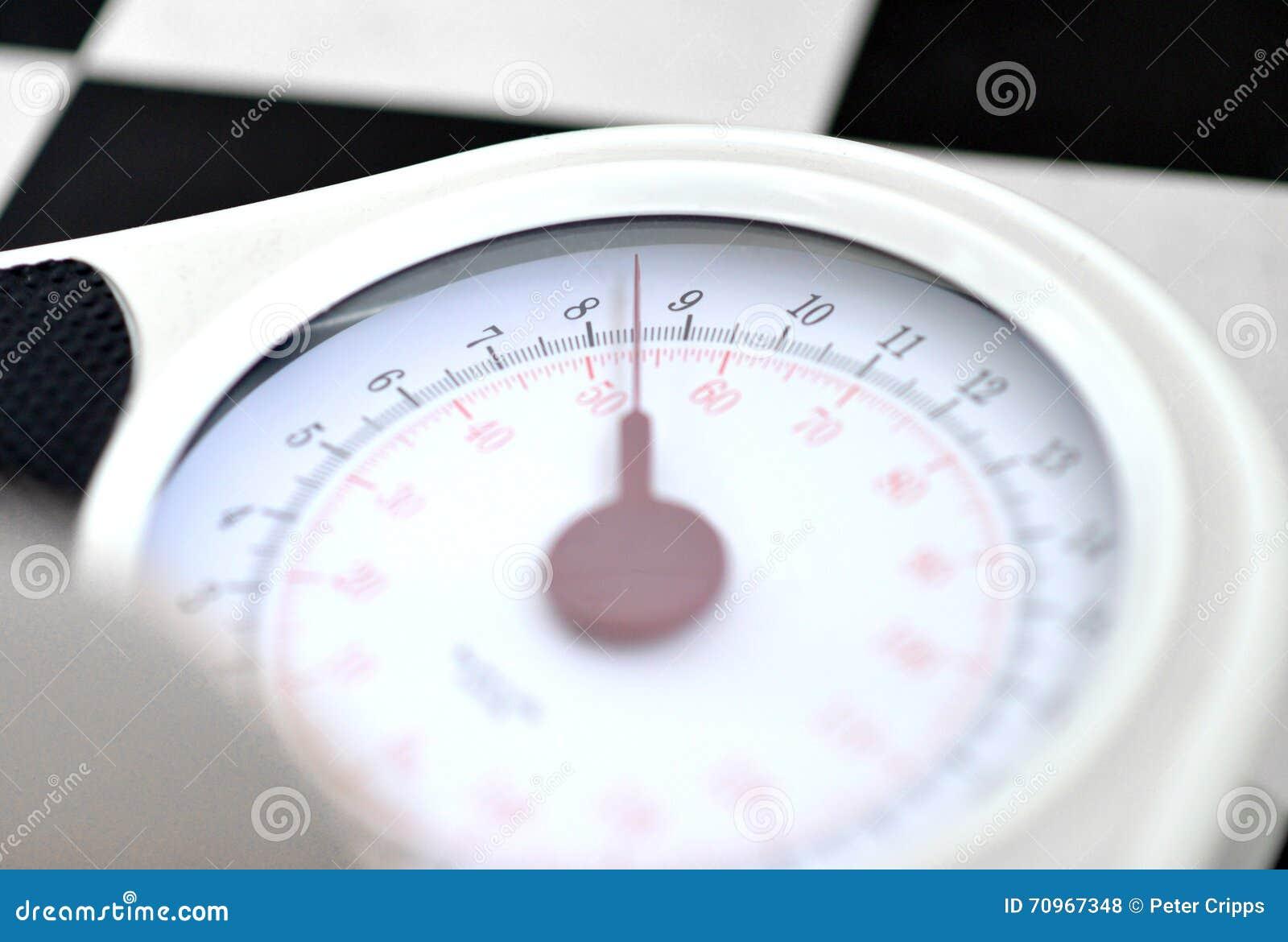 Bakgrund som isoleras över scales som väger white