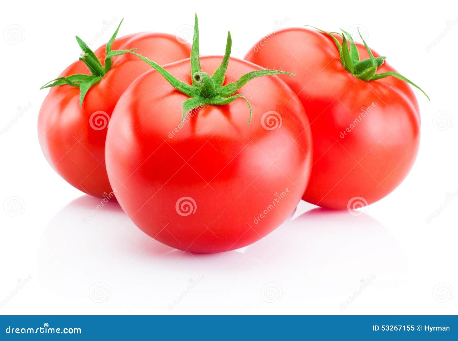 Bakgrund vita isolerade tomater för red tre