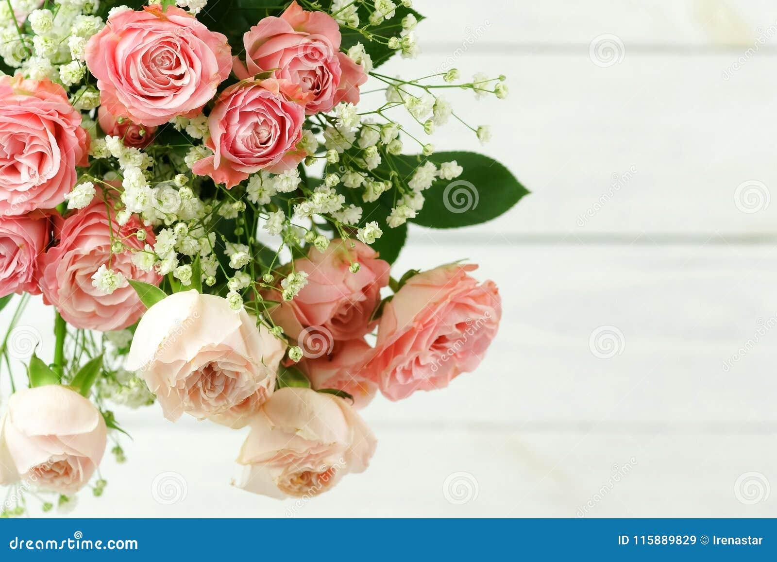 Bakgrundsbanret blommar datalistor little rosa spiral härliga bukettpinkro