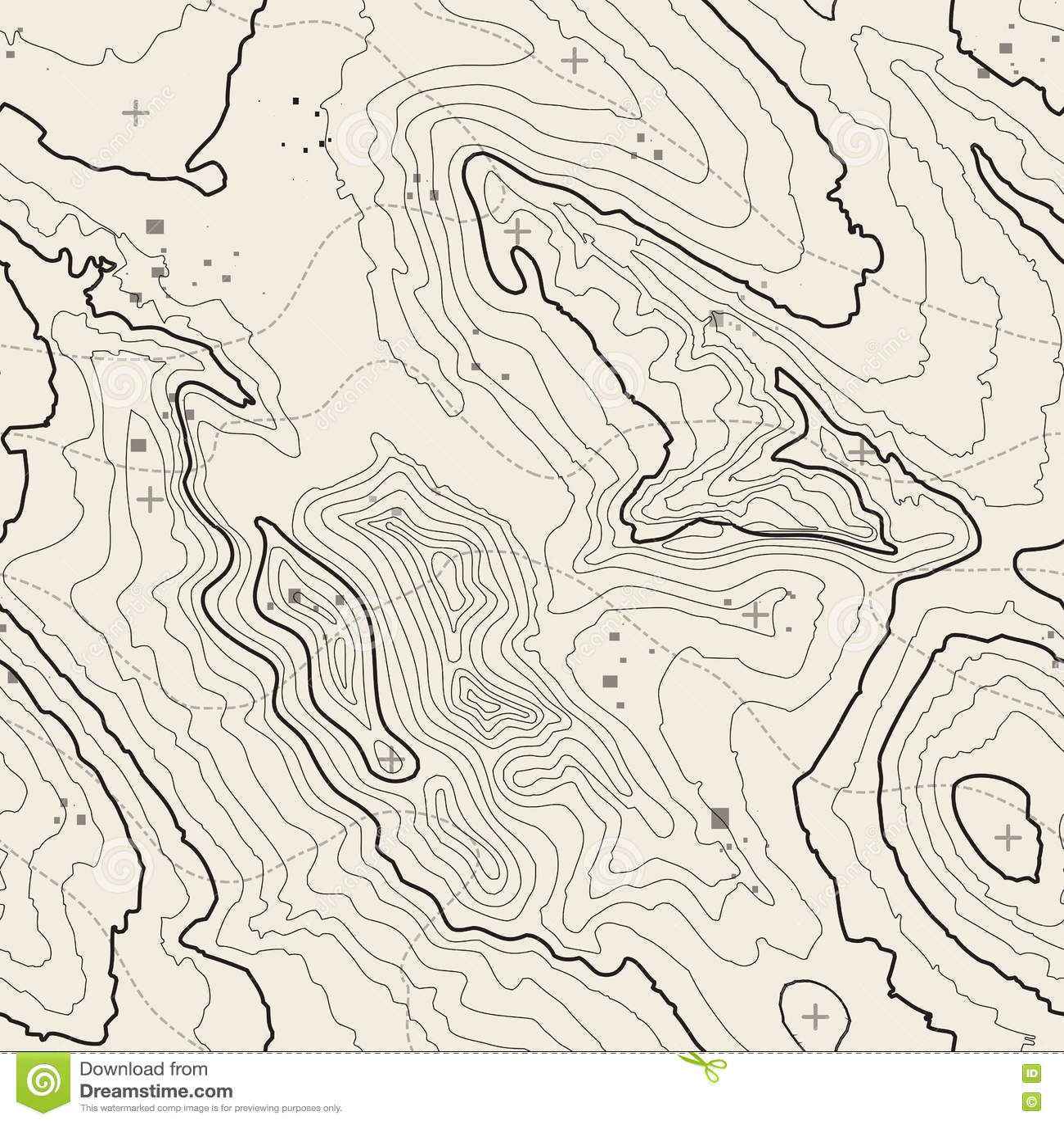 Bakgrundsbegrepp för Topographic översikt med utrymme för din kopia Topografilinjer konstkontur, berg som fotvandrar slingan