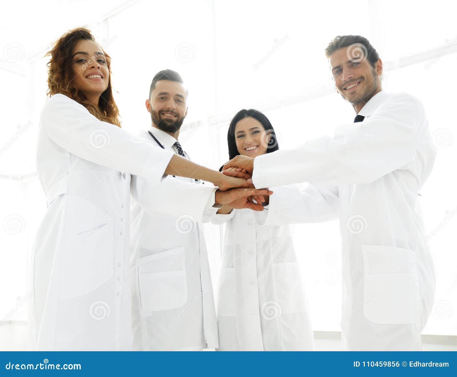 Bakgrundsbild av en grupp av doktorer