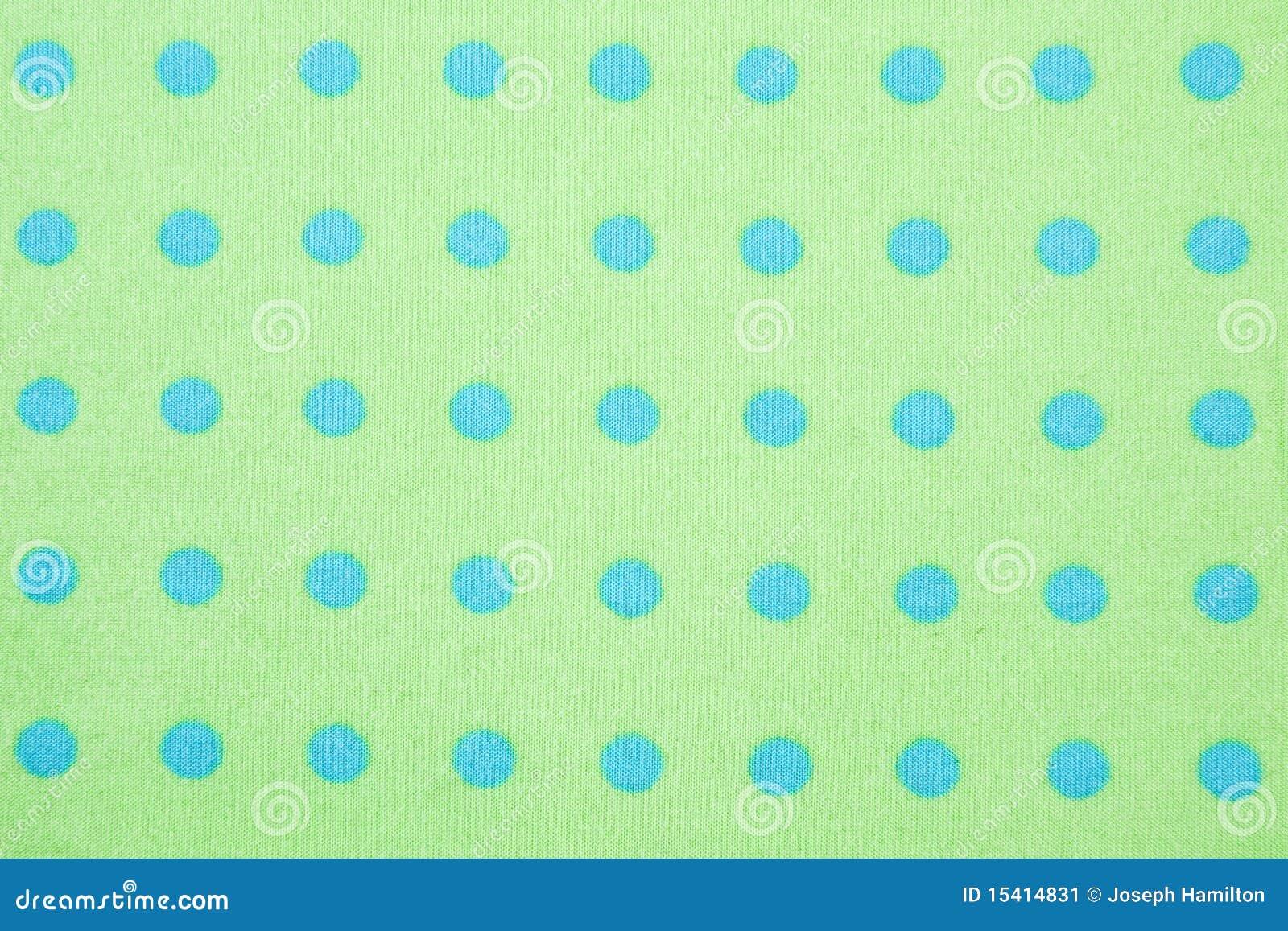 Bakgrundsbluen dots grön modellpolka