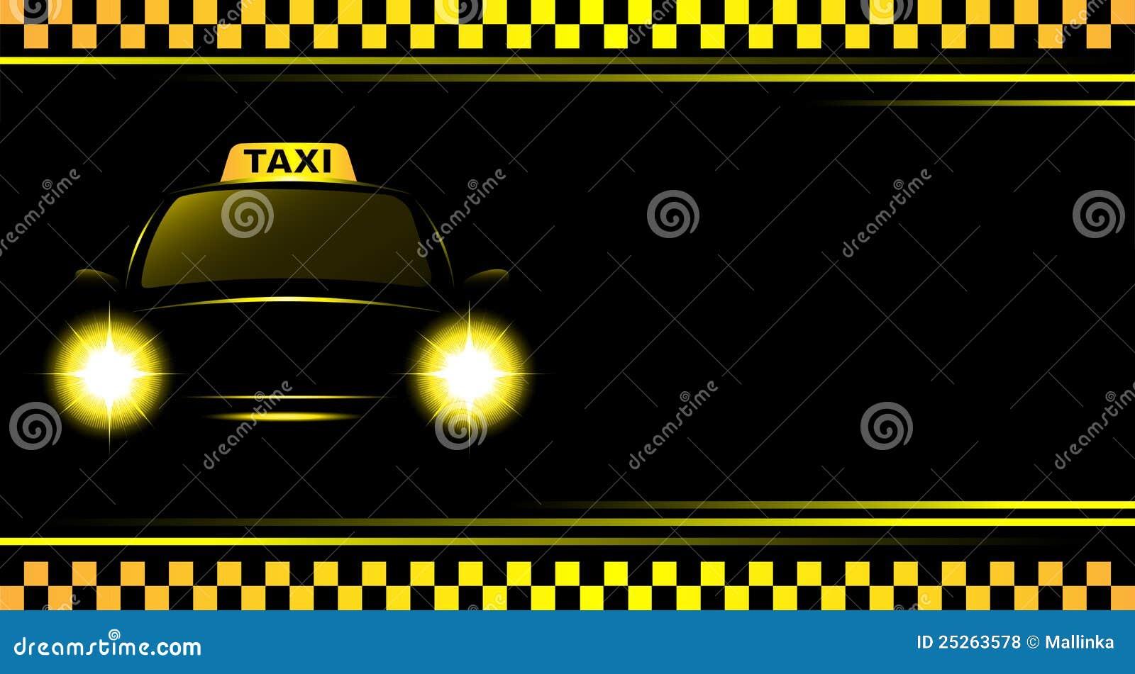 Bakgrundscabtecknet taxar