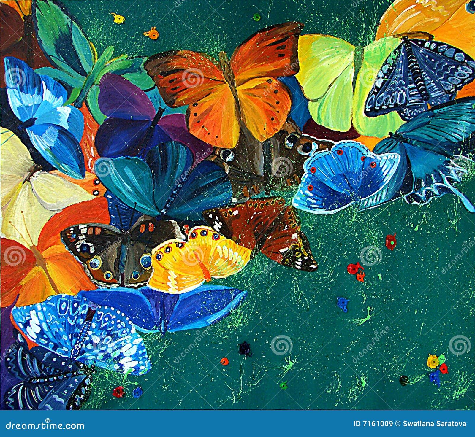 Bakgrundsfjärilar colour gree