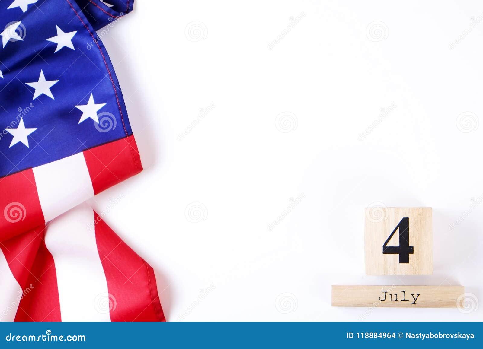 Bakgrundsflagga av Amerikas förenta stater för nationell federal ferieberöm av självständighetsdagen USA symbolics