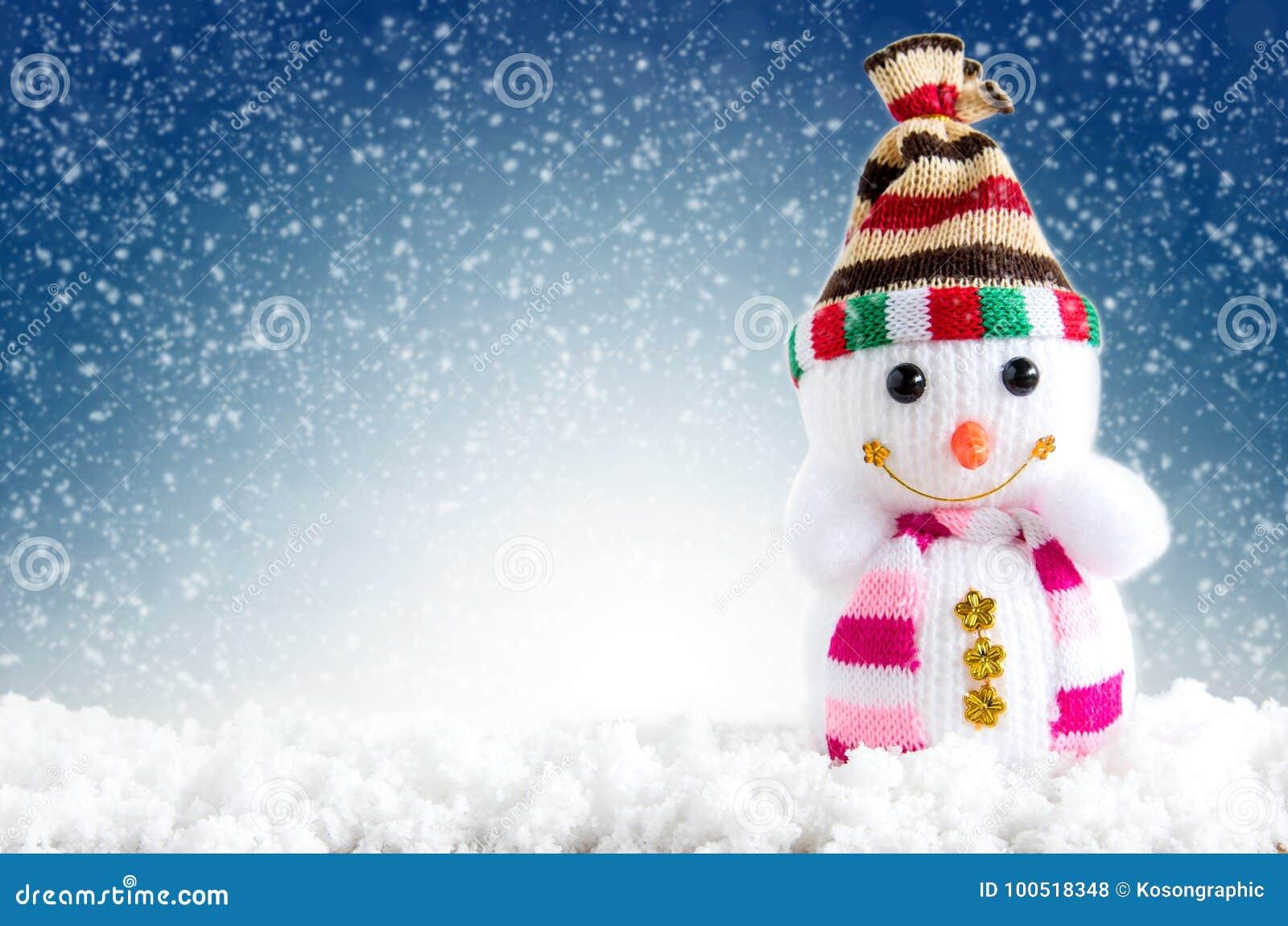 Bakgrundsjuldatoren frambragte glatt nytt vektorår för lycklig bild Snögubbeanseende