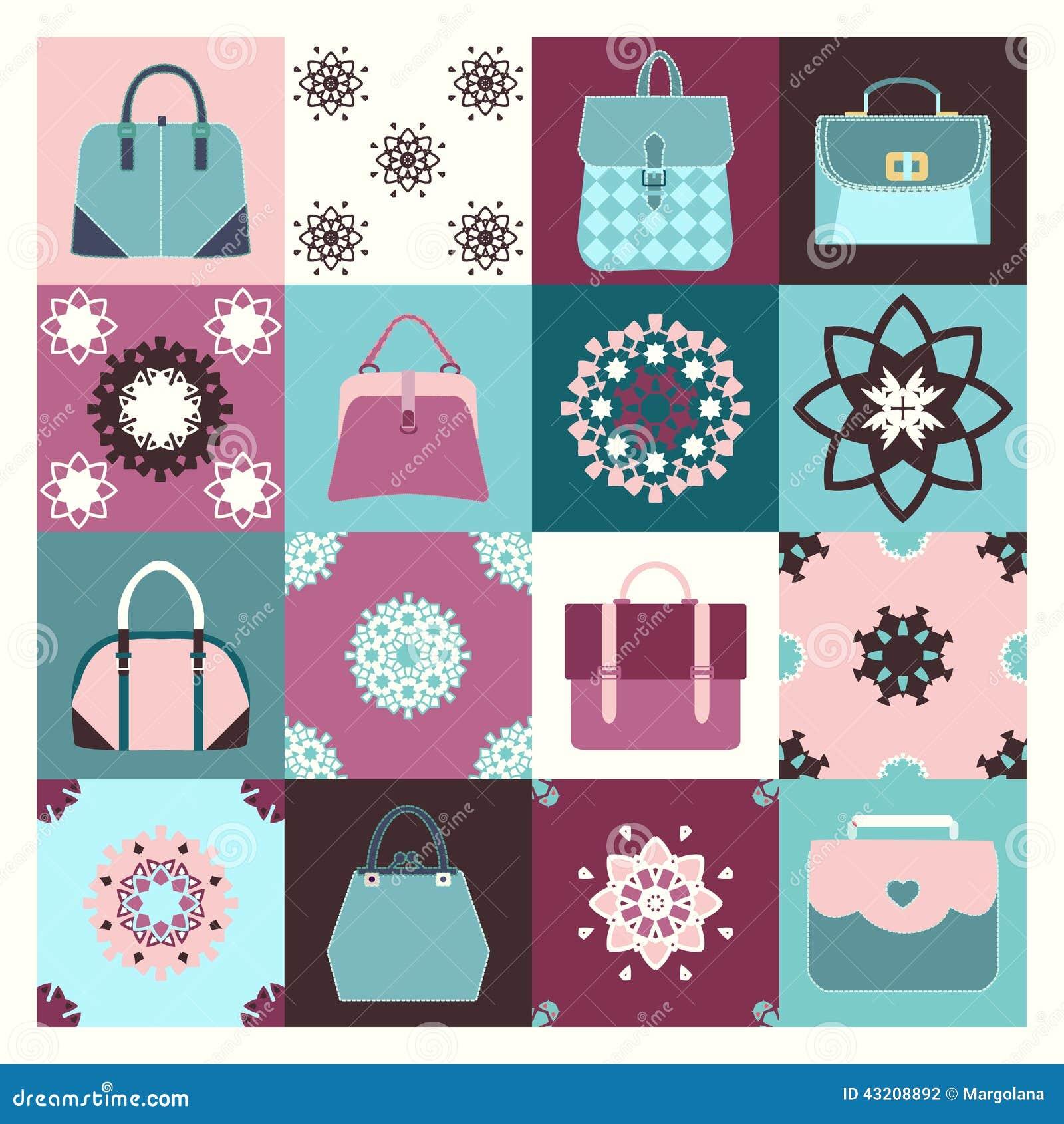 Download Bakgrundssymbolsuppsättningen Av Mode Hänger Löst - Illustrationen Stock Illustrationer - Illustration av illustration, modell: 43208892