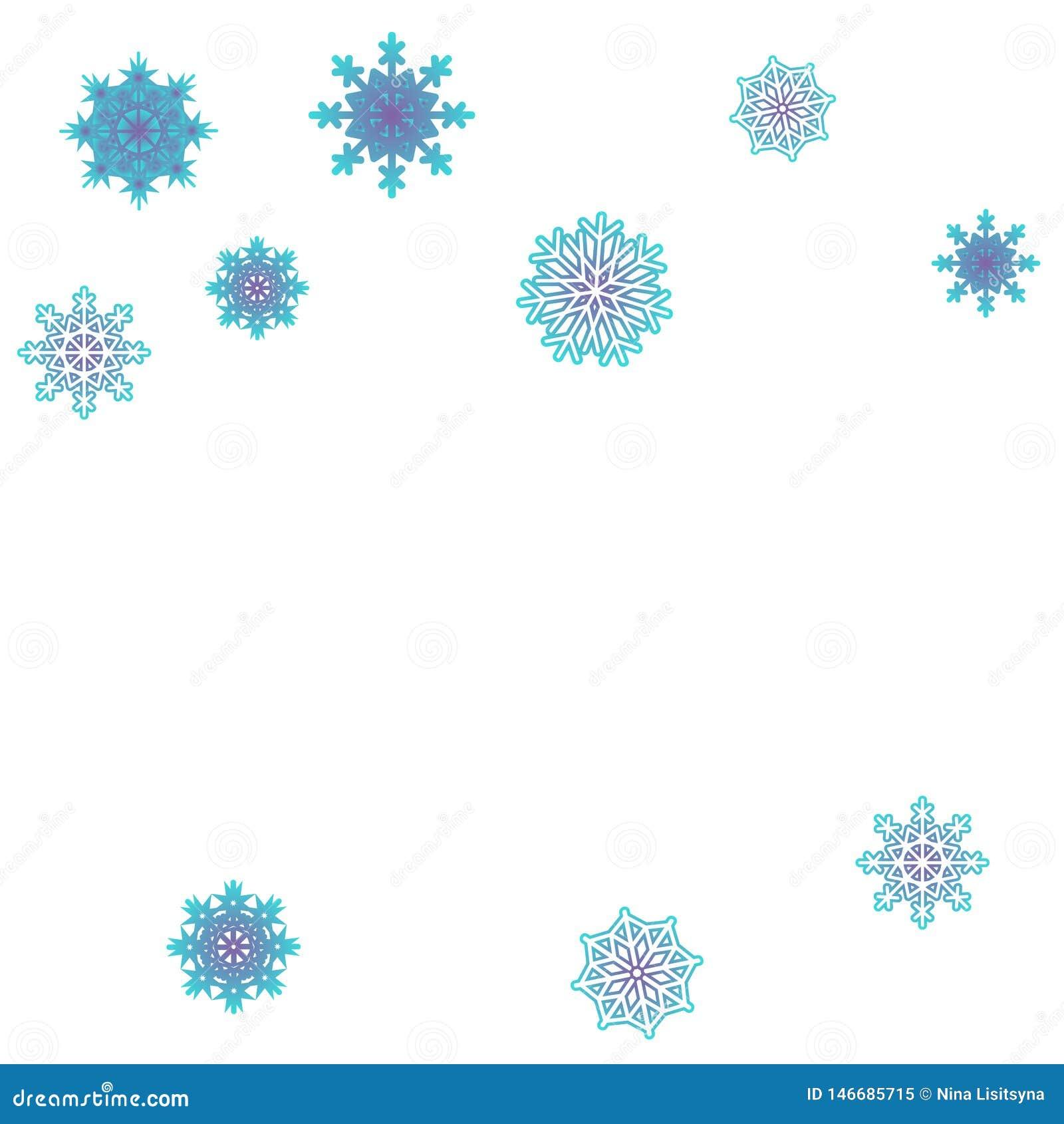 Bakgrundsvektor f?r nytt ?r med fallande sn?flingor