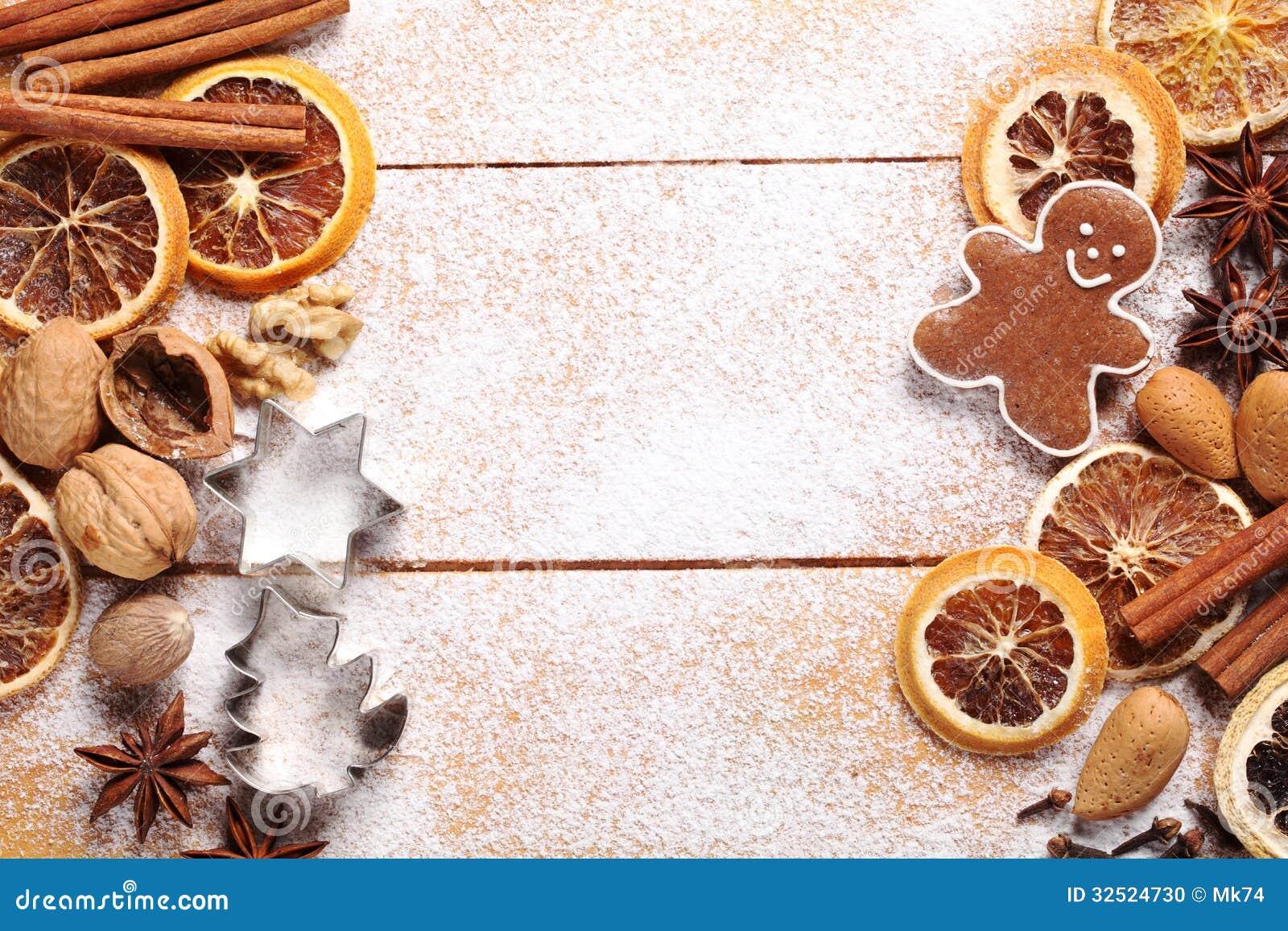 christmas baking background with - photo #12