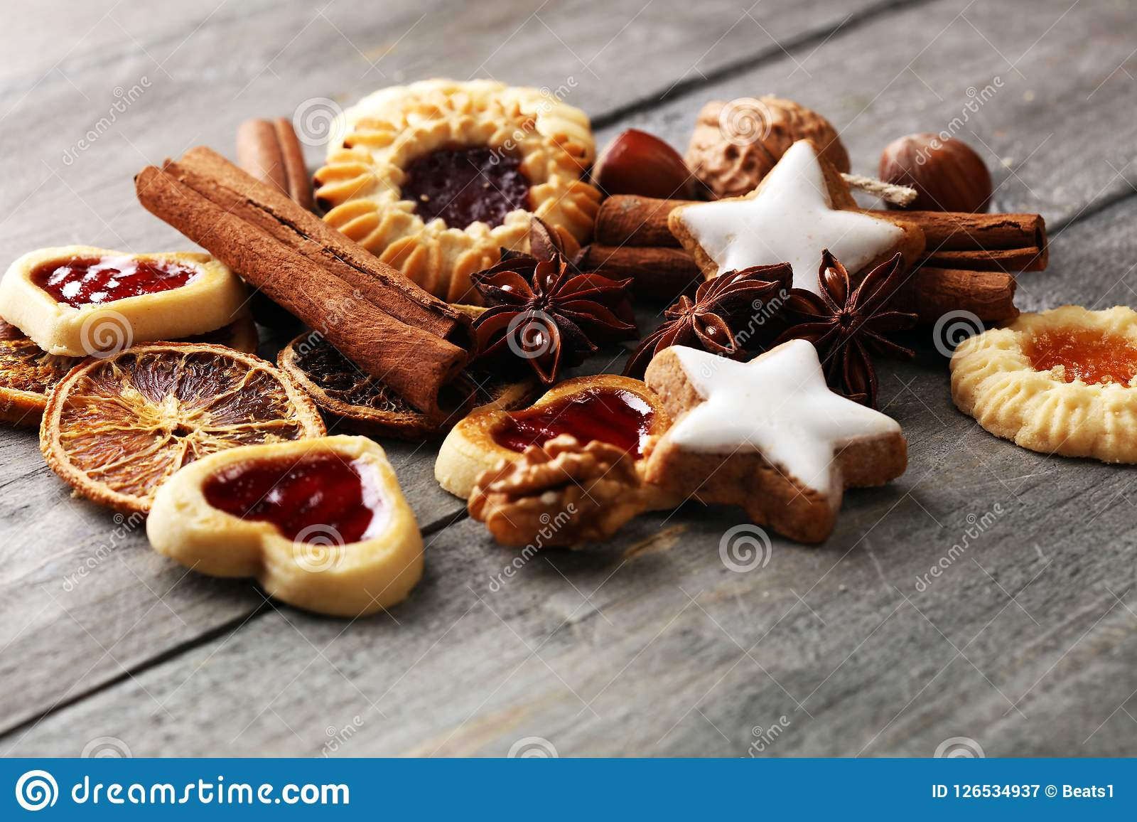 Baking Christmas Cookies Typical Cinnamon Stars Bakery With Spi