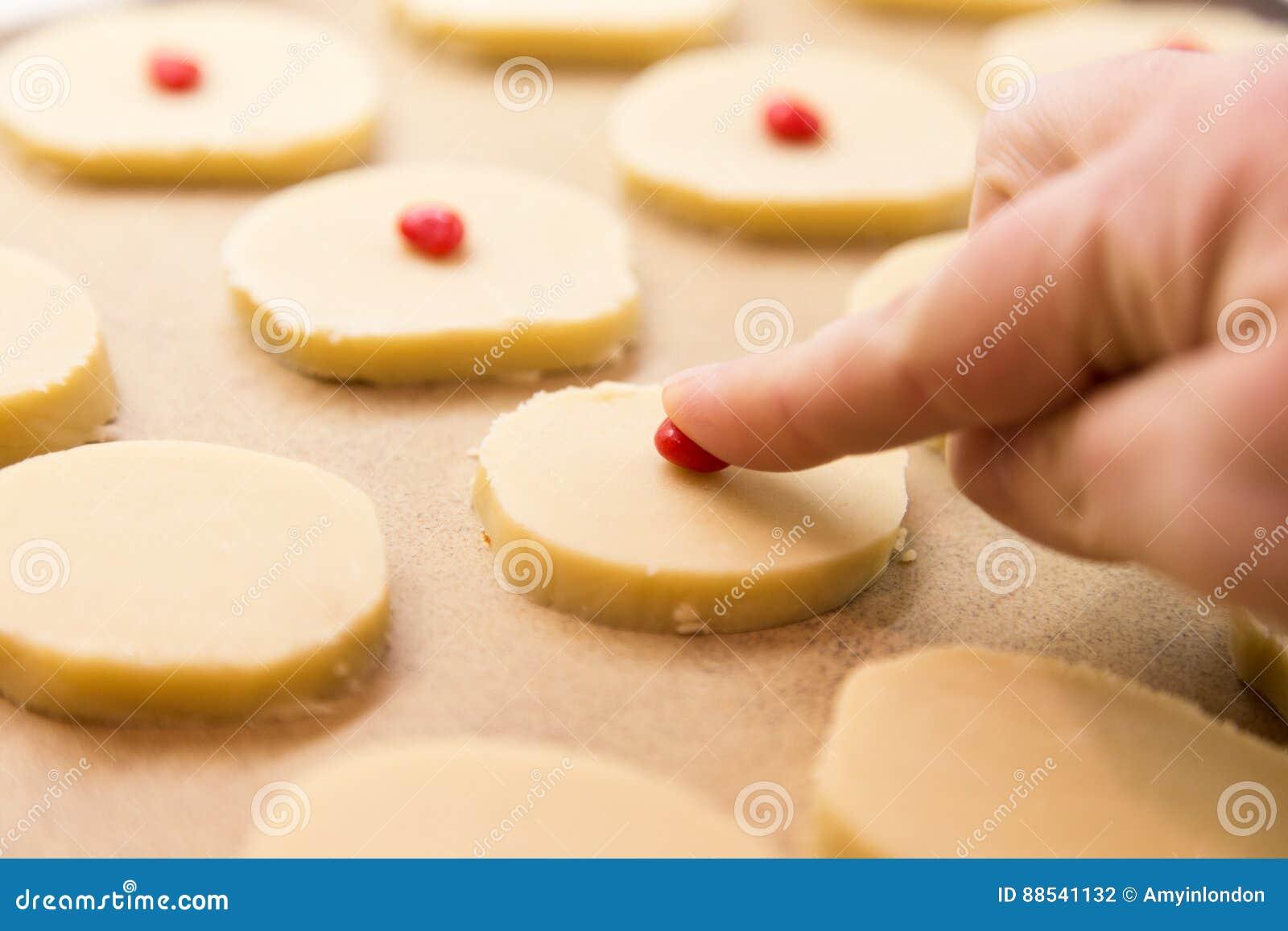 Christmas Shortbread Cookies.Baking Christmas Shortbread Cookies Stock Photo Image Of Sweets