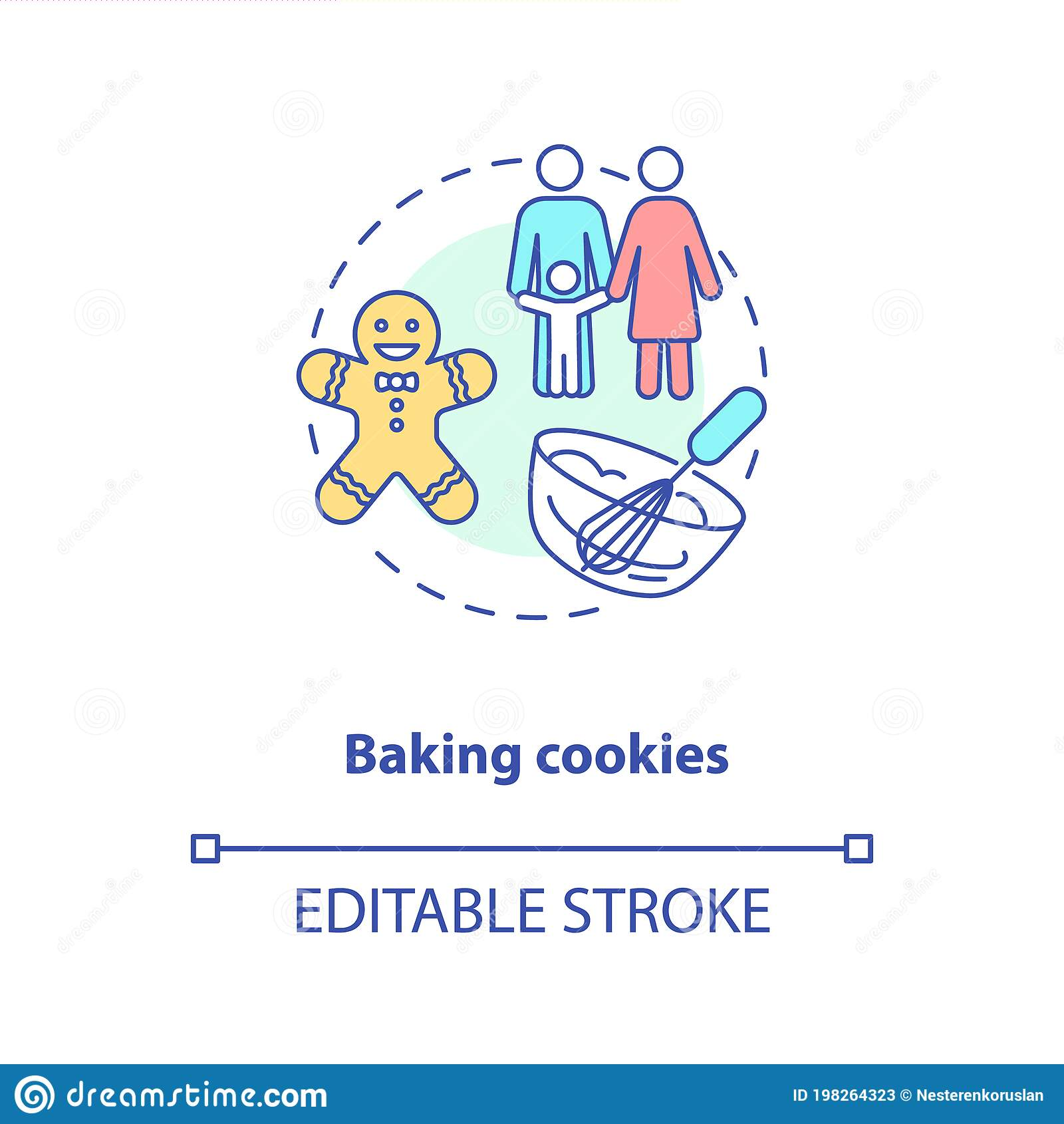 baking cookies concept icon stock vector illustration of abstract indoor 198264323 baking cookies concept icon stock vector illustration of abstract indoor 198264323