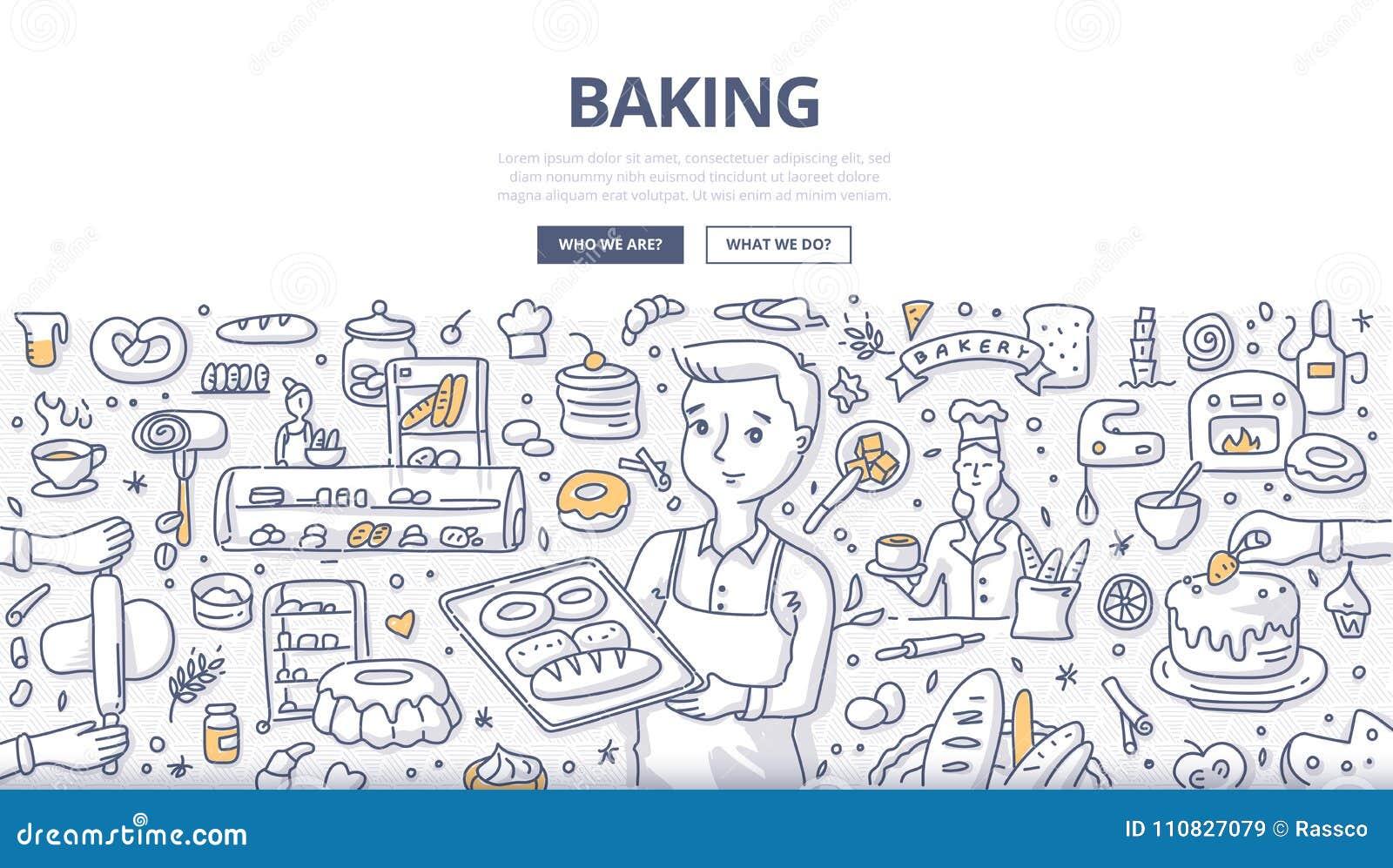 Baking Doodle Concept