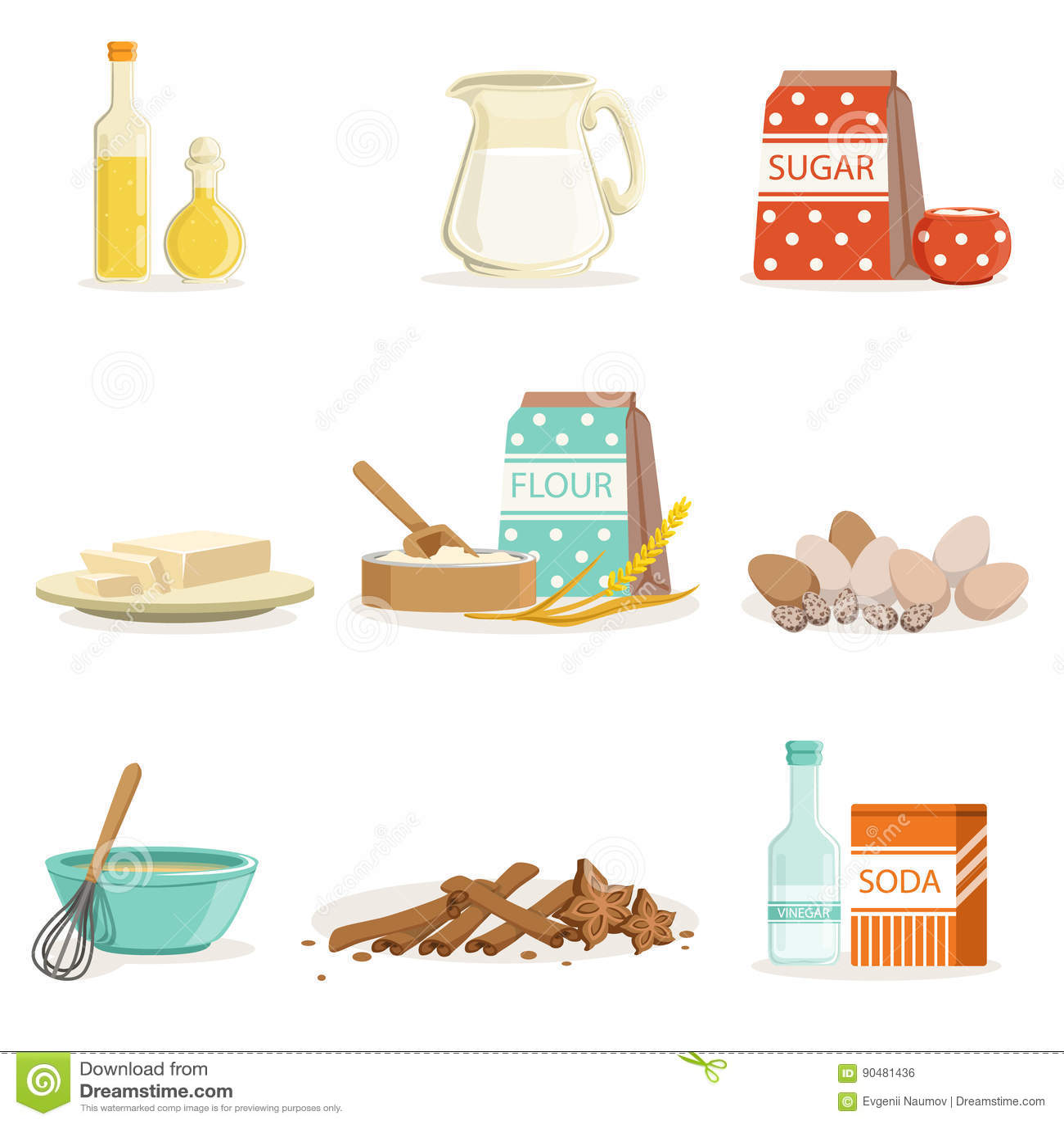 Kitchen Tools And Utensils baking ingredients and kitchen tools and utensils collection of