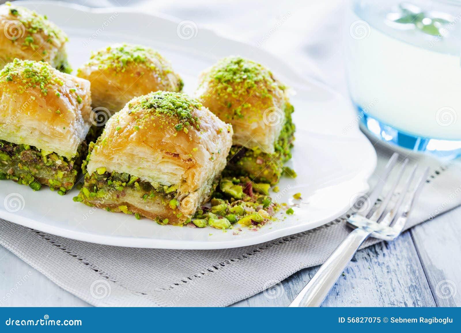 Baklava avec la pistache