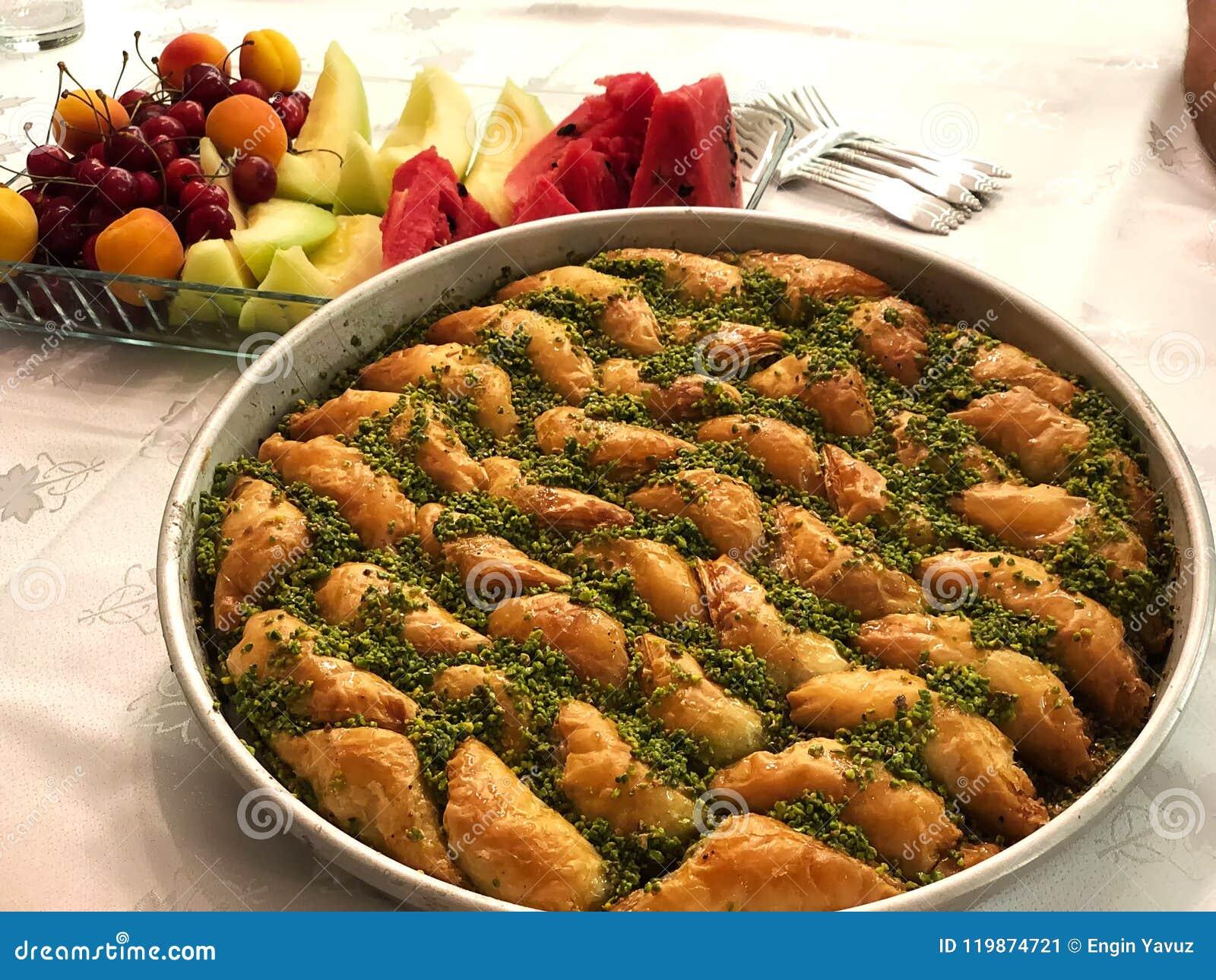 Baklava en Vruchten Turks belangrijk dessert