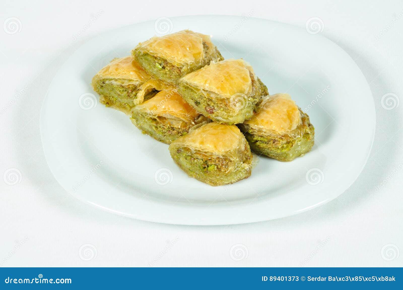 Baklava muito doce do pistache
