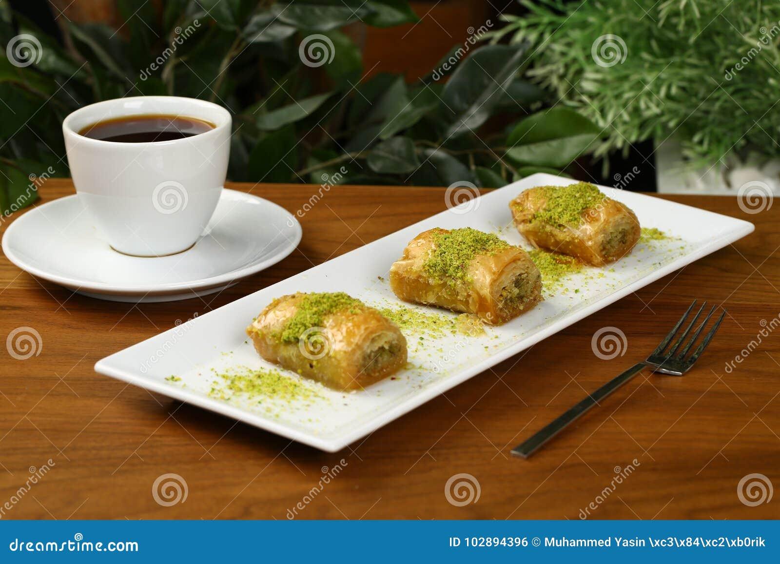 Baklava och kaffe