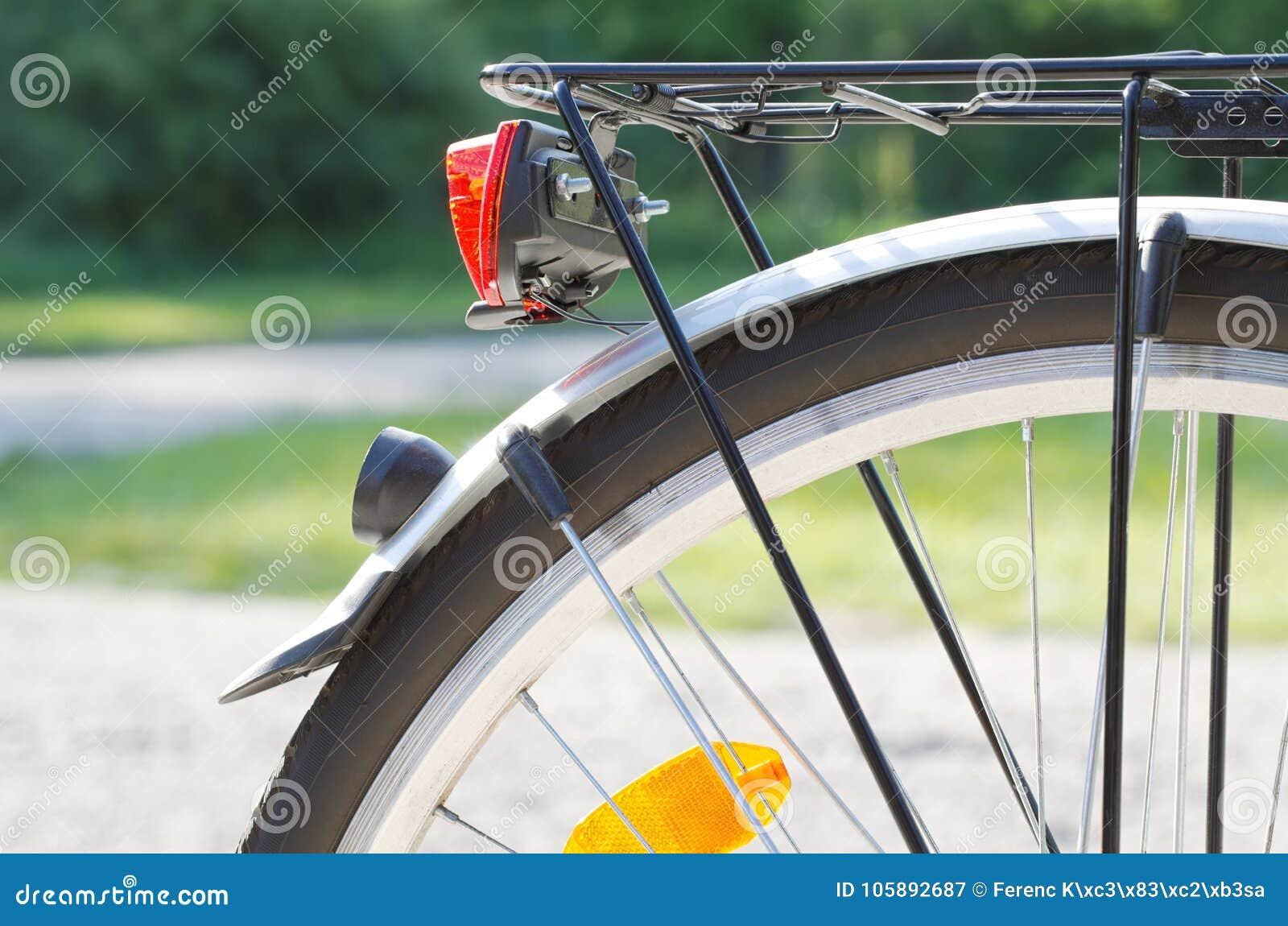 Bakre closeup för cykelhjul