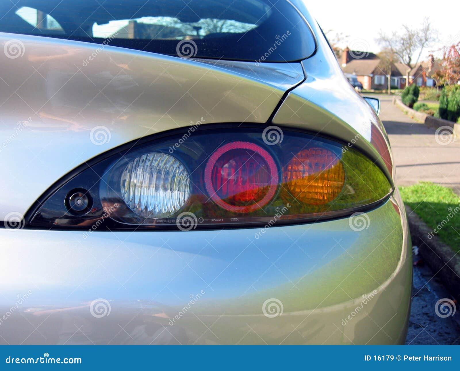 Bakre höger sida för bil