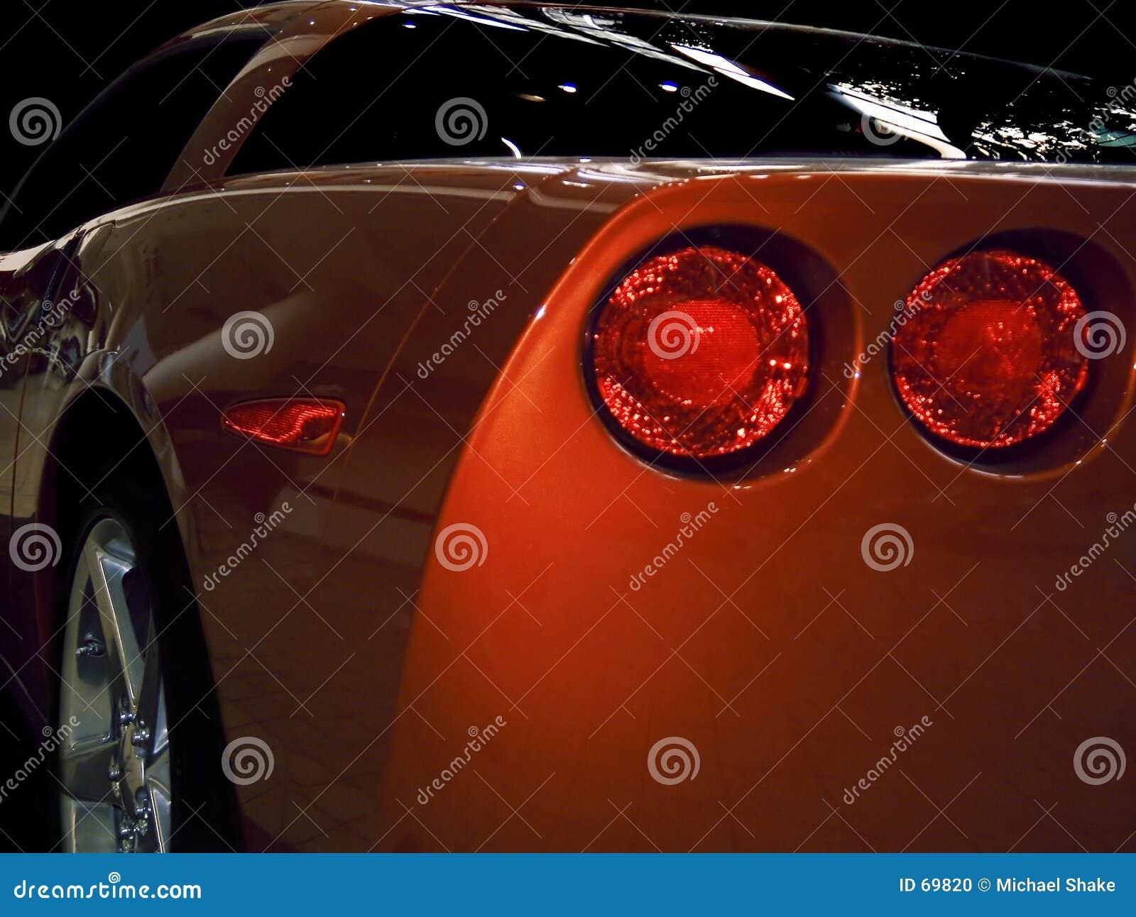 Bakre sportscar sikt