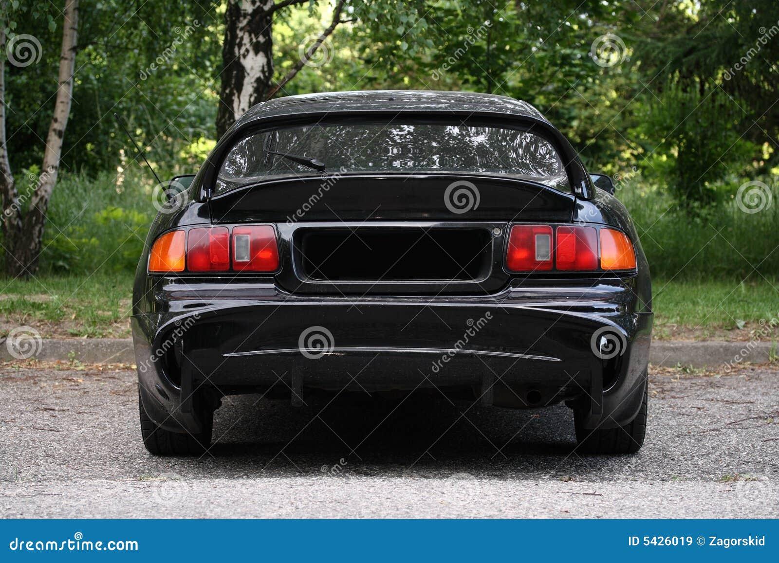 Bakre sportsikt för bil