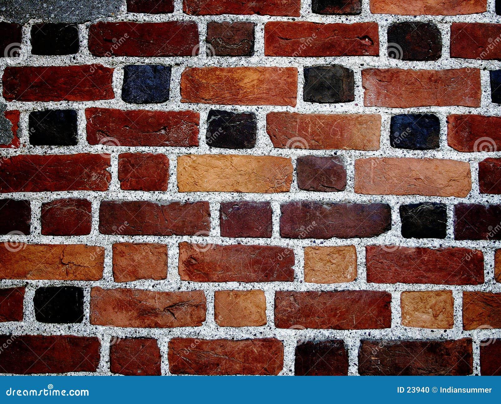 Bakstenen muur II van de kleur