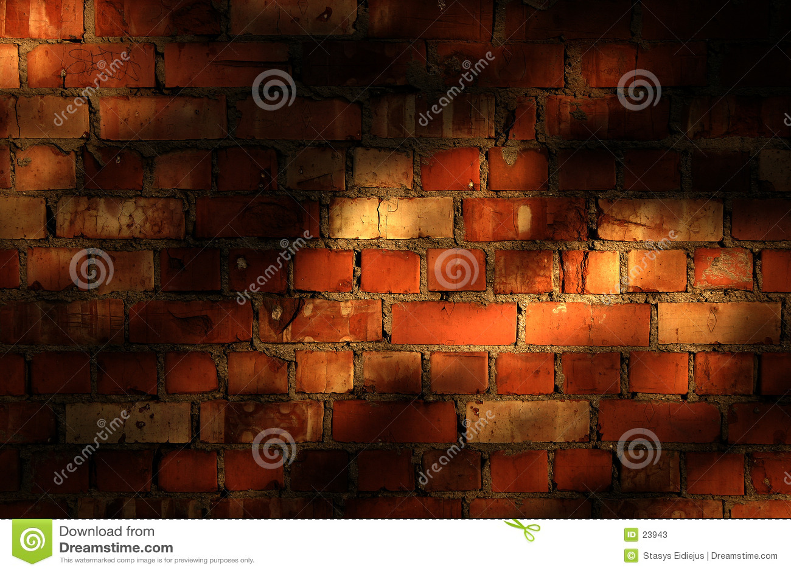 Bakstenen muur met avondschaduwen