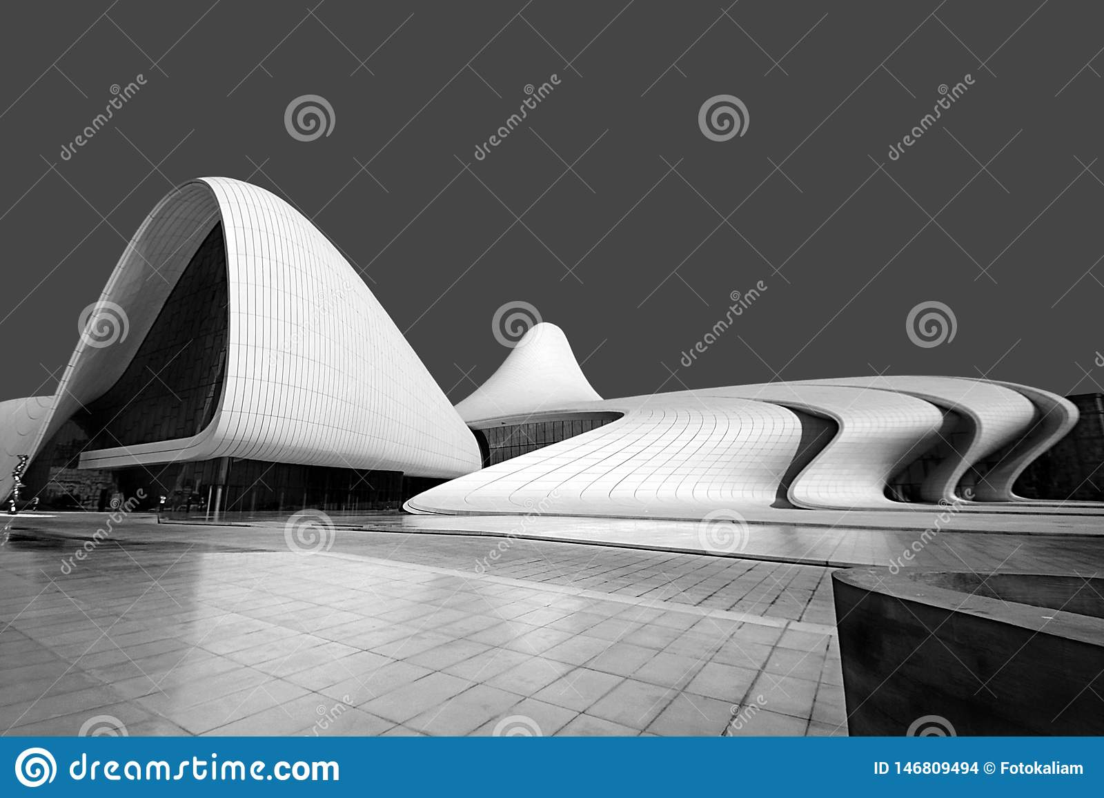 Baku, Azerbaijan, Cultural Center named after Heydar Aliyev