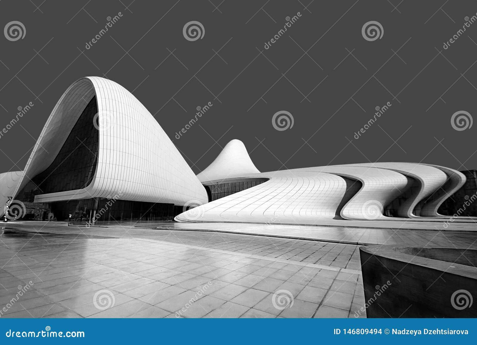 Baku Azerbajdzjan, kulturell mitt som namnges efter Heydar Aliyev