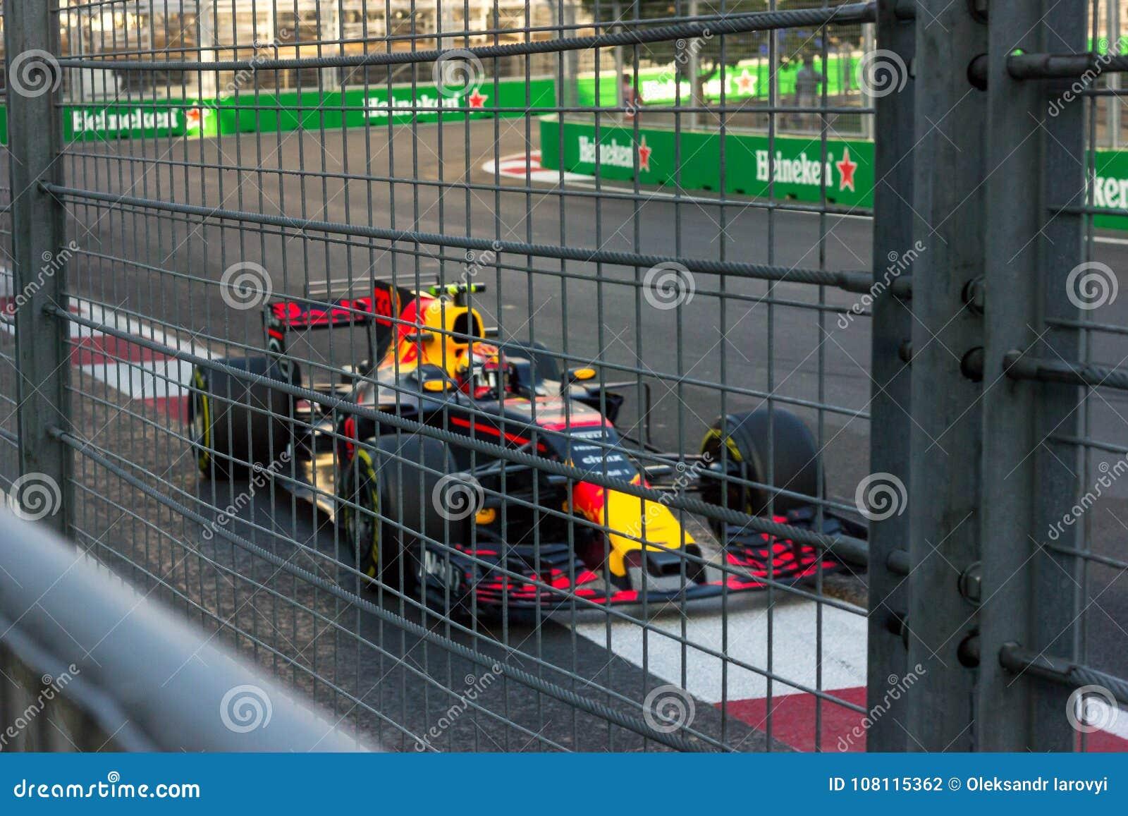 Baku, Azerbeidzjan - Juni 06, 2017: Formule 1 Grand Prix van de Grand Prix van Azerbeidzjan