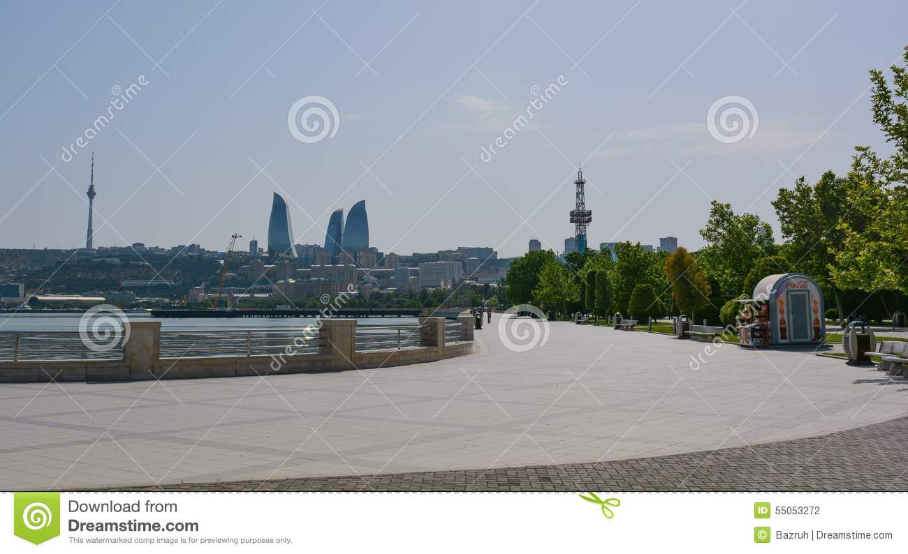 Baku embankment at noon