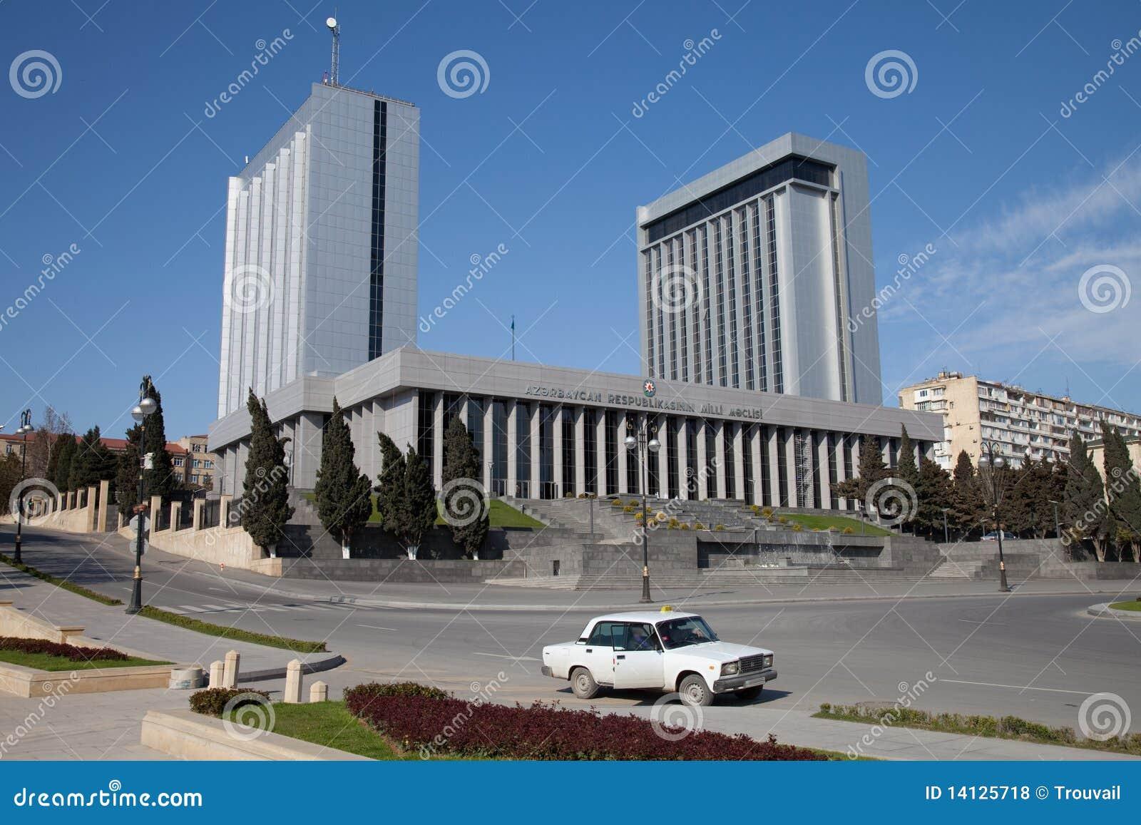 Baku, o parlamento de Azerbijan abriga