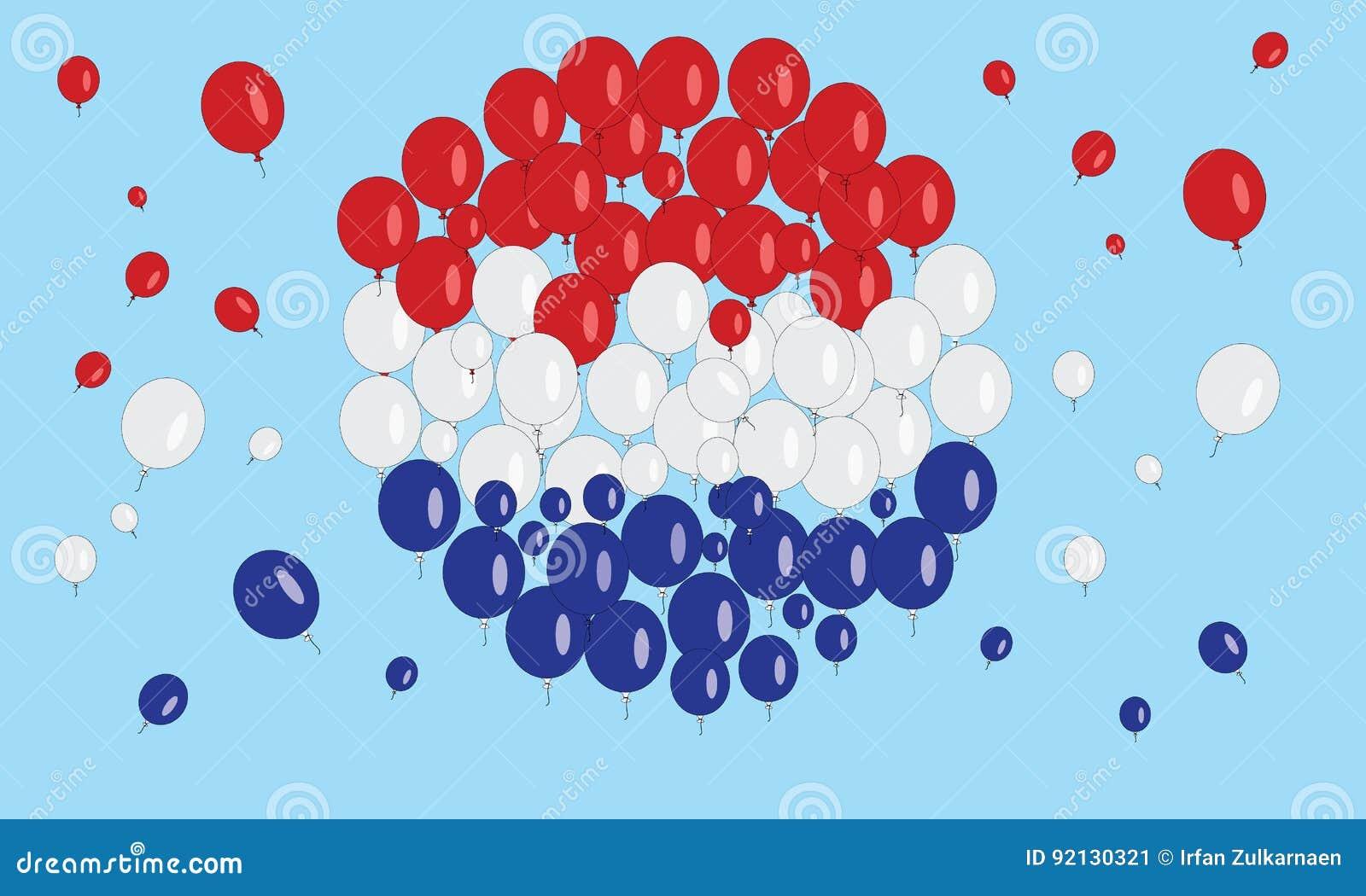 Balão da bandeira de Netherland