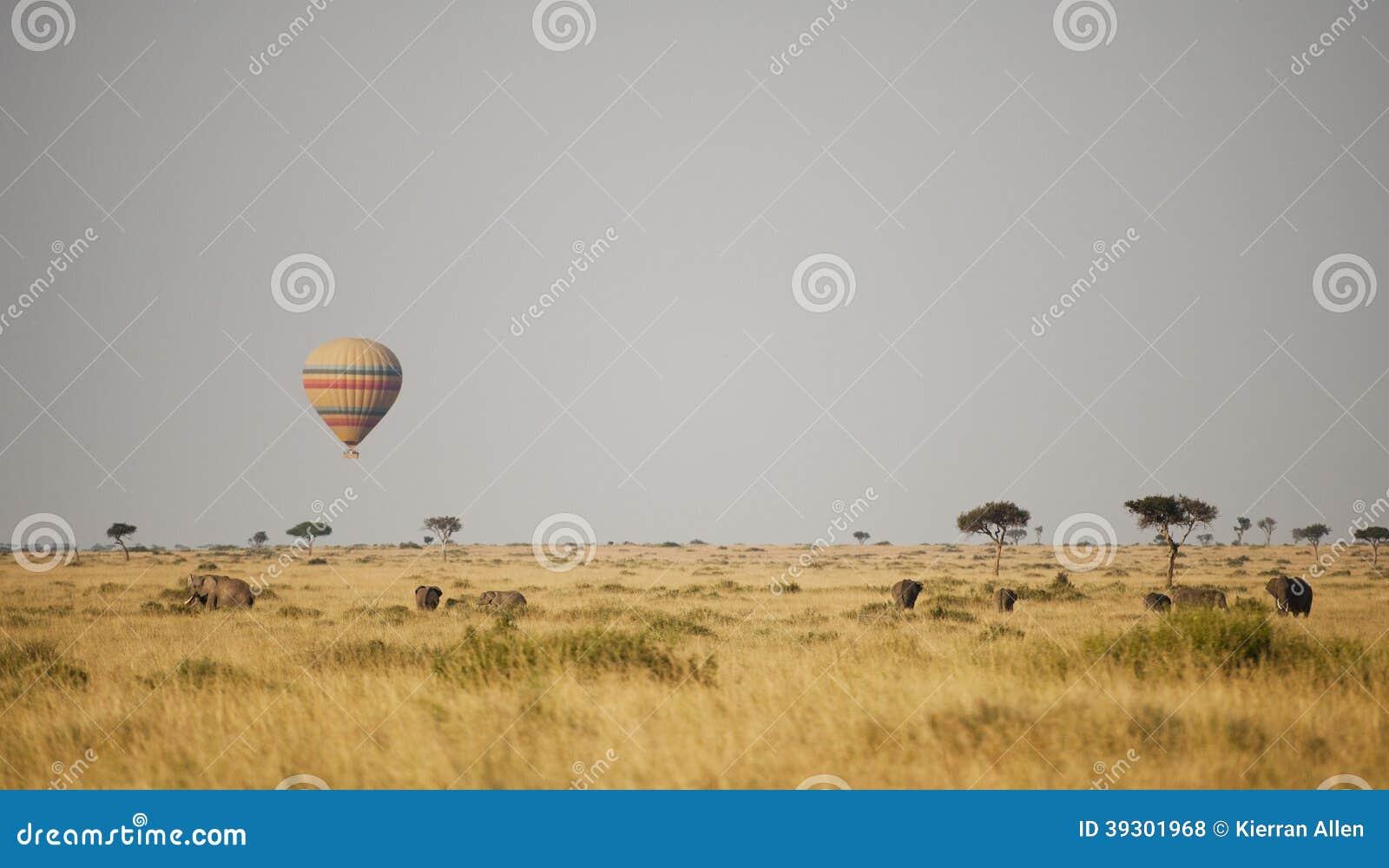 Balão de ar quente em Kenya